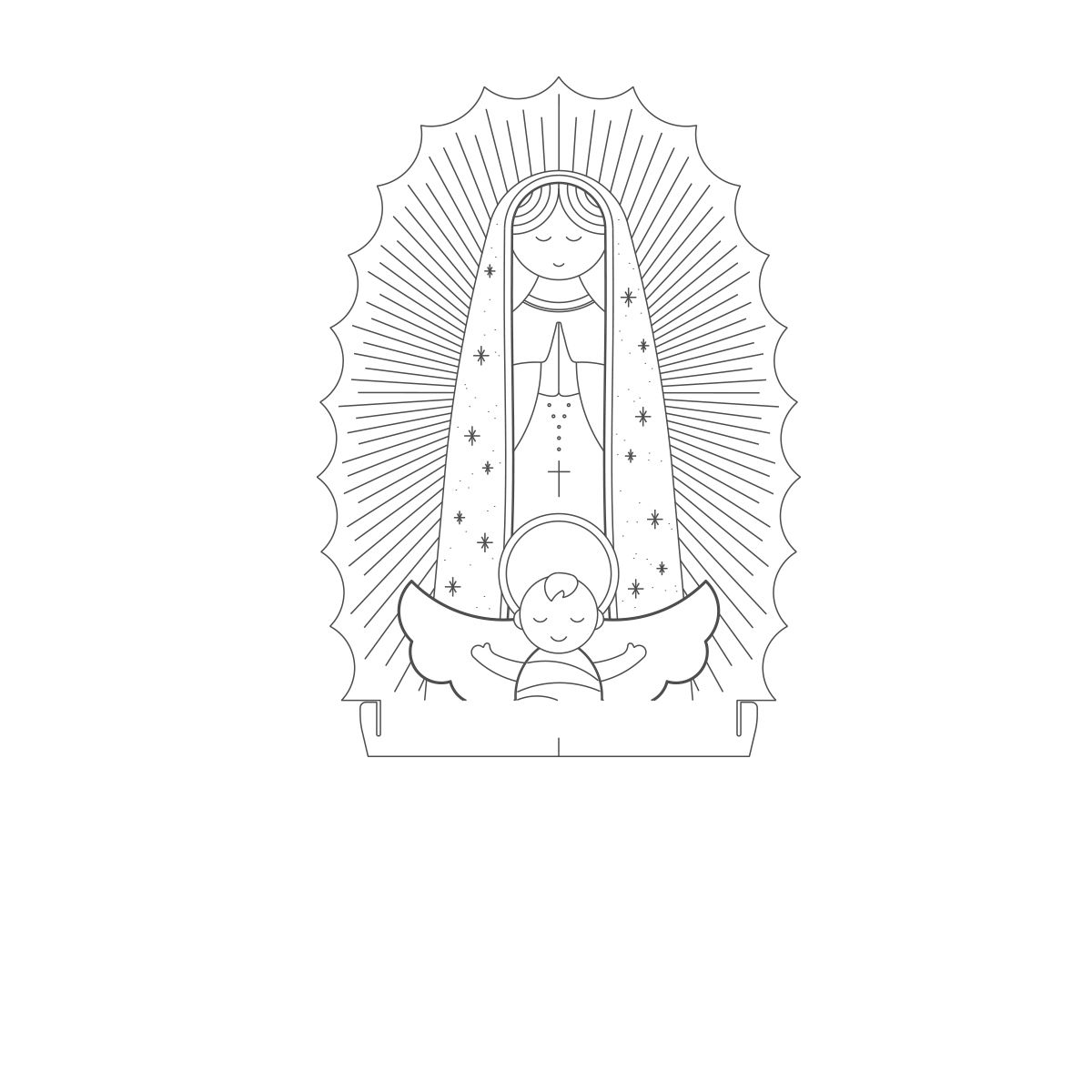 Acrílico Nossa Senhora de Guadalupe