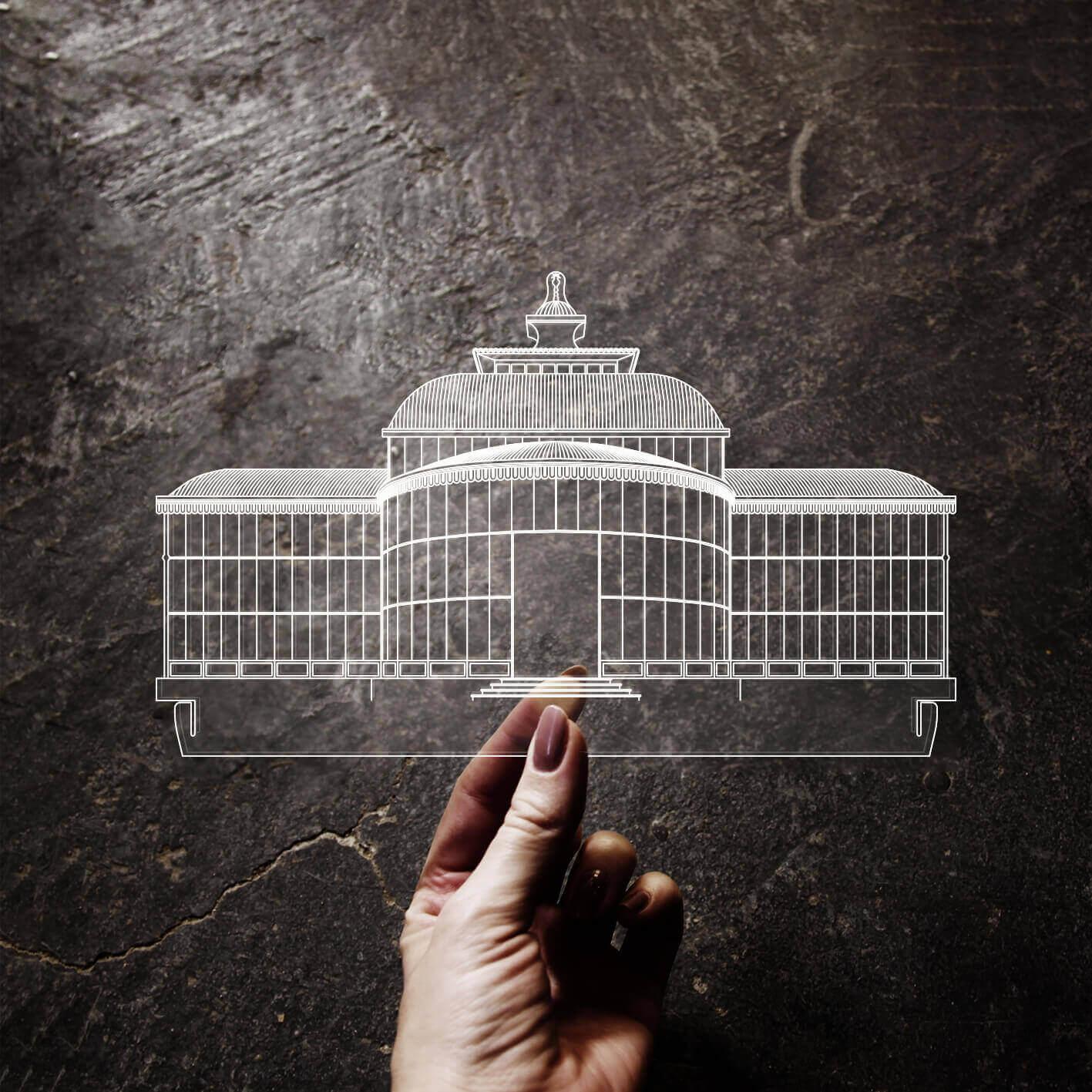 Petrópolis - Acrílico Palácio de Cristal