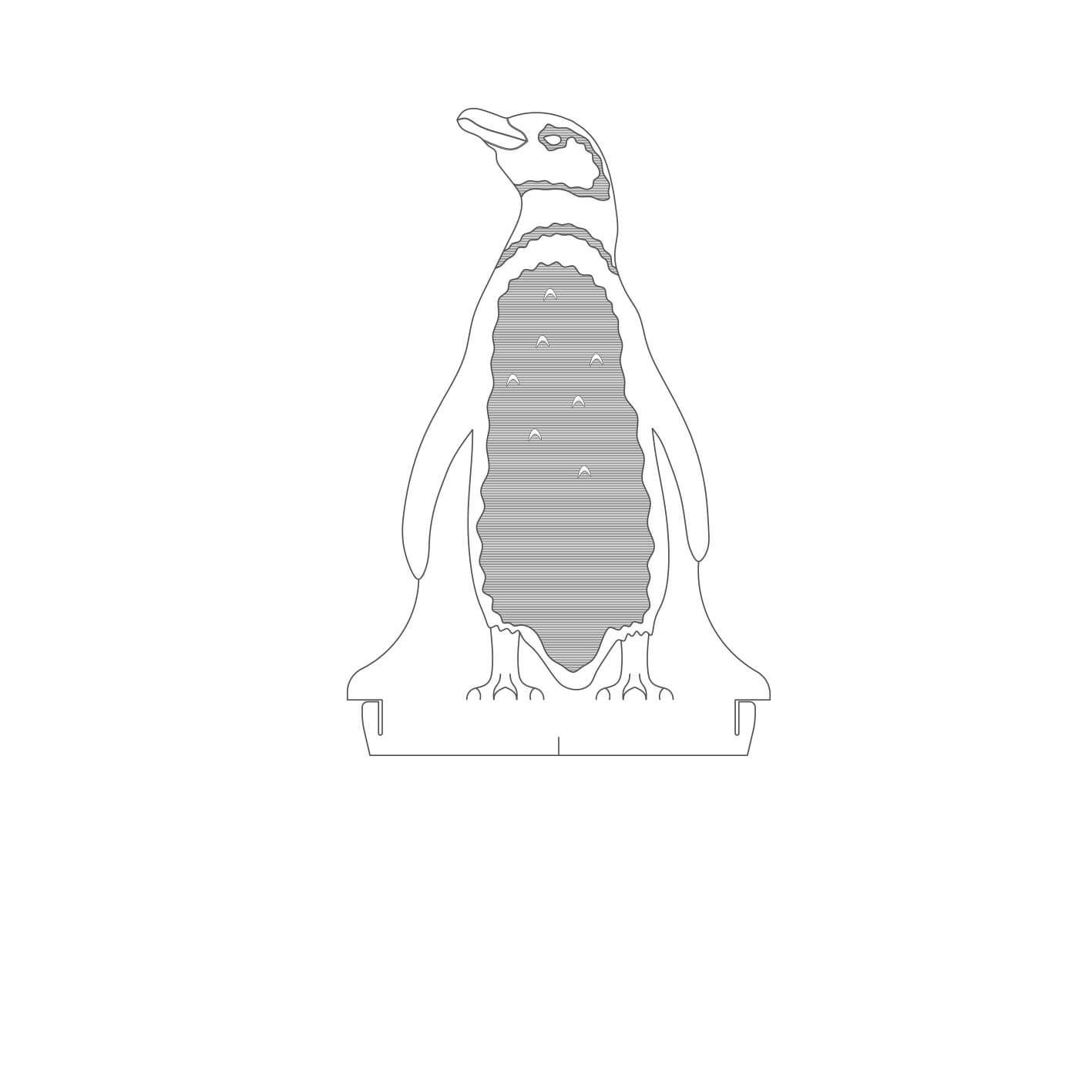 Marinhos - Acrílico Pinguim