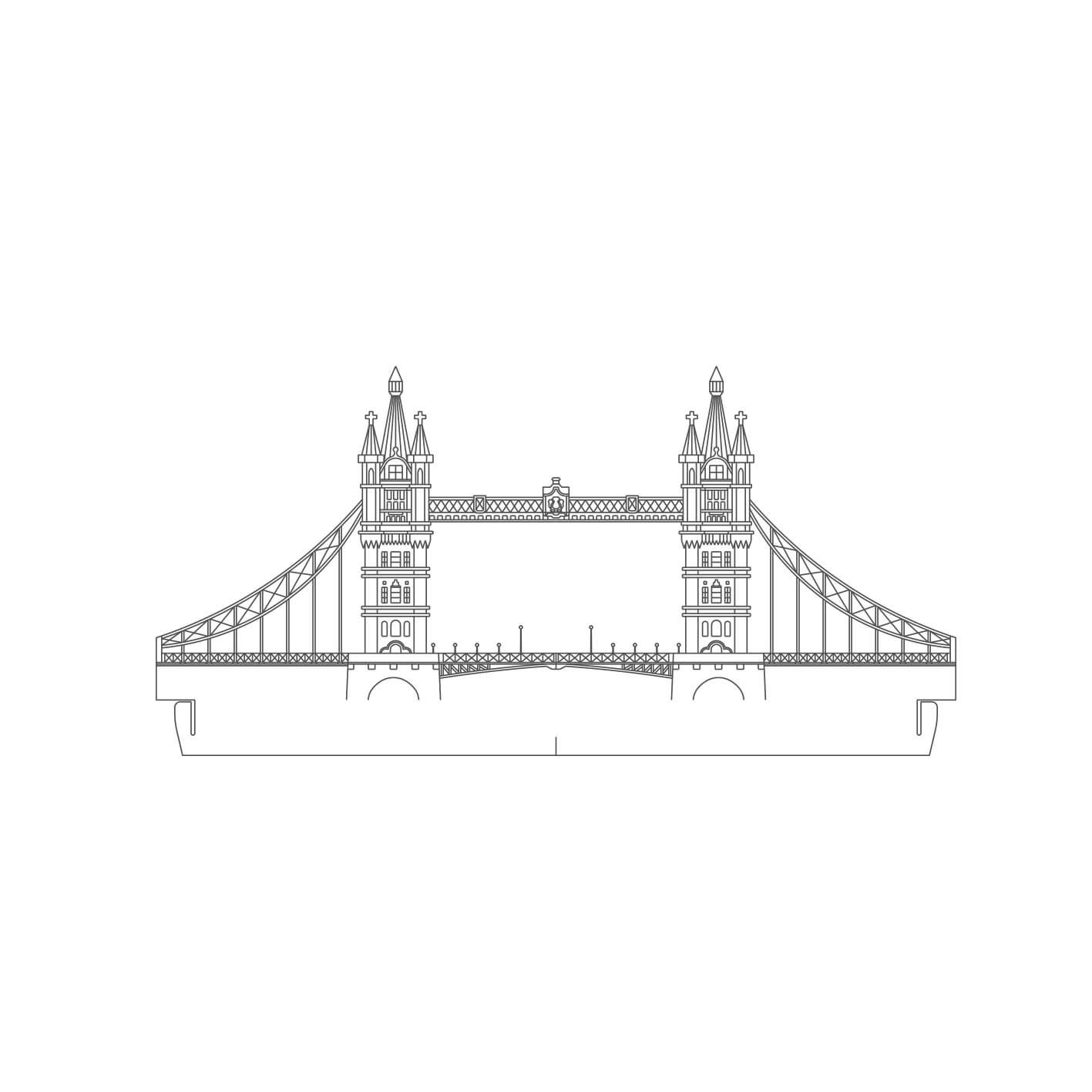 Europa - Acrílico Ponte de Londres