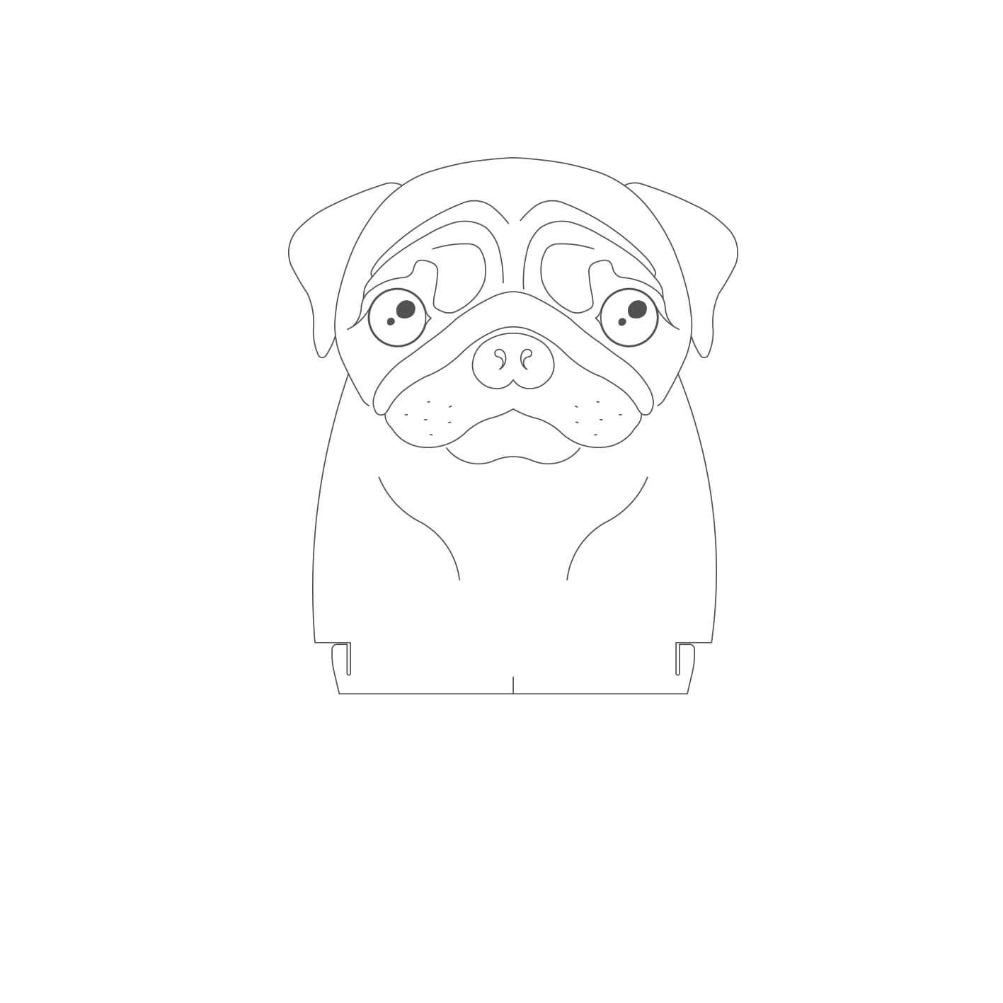 Acrílico Pug