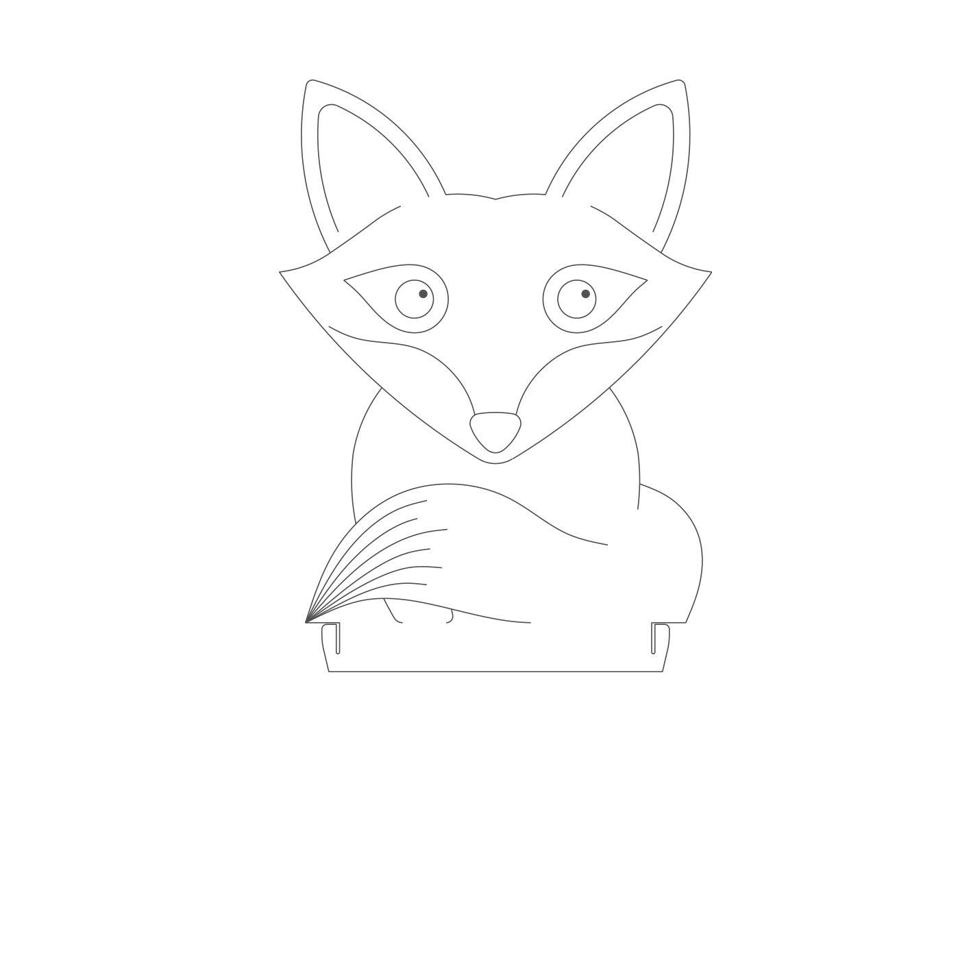 Infantil - Acrilico Raposa