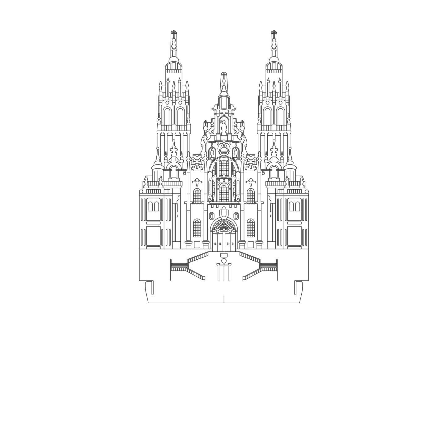 Europa - Acrílico Santiago de Compostela - Espanha