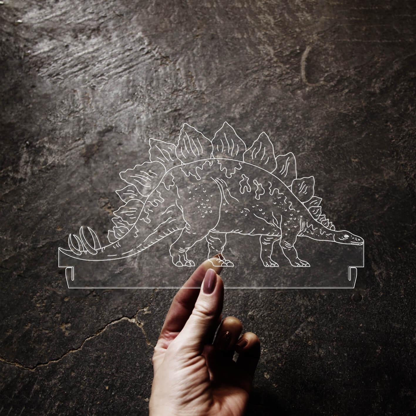 Dinossauro - Acrílico Stegossaurus
