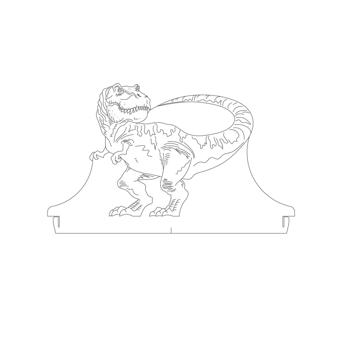 Dinossauro - Acrílico Tiranossauro