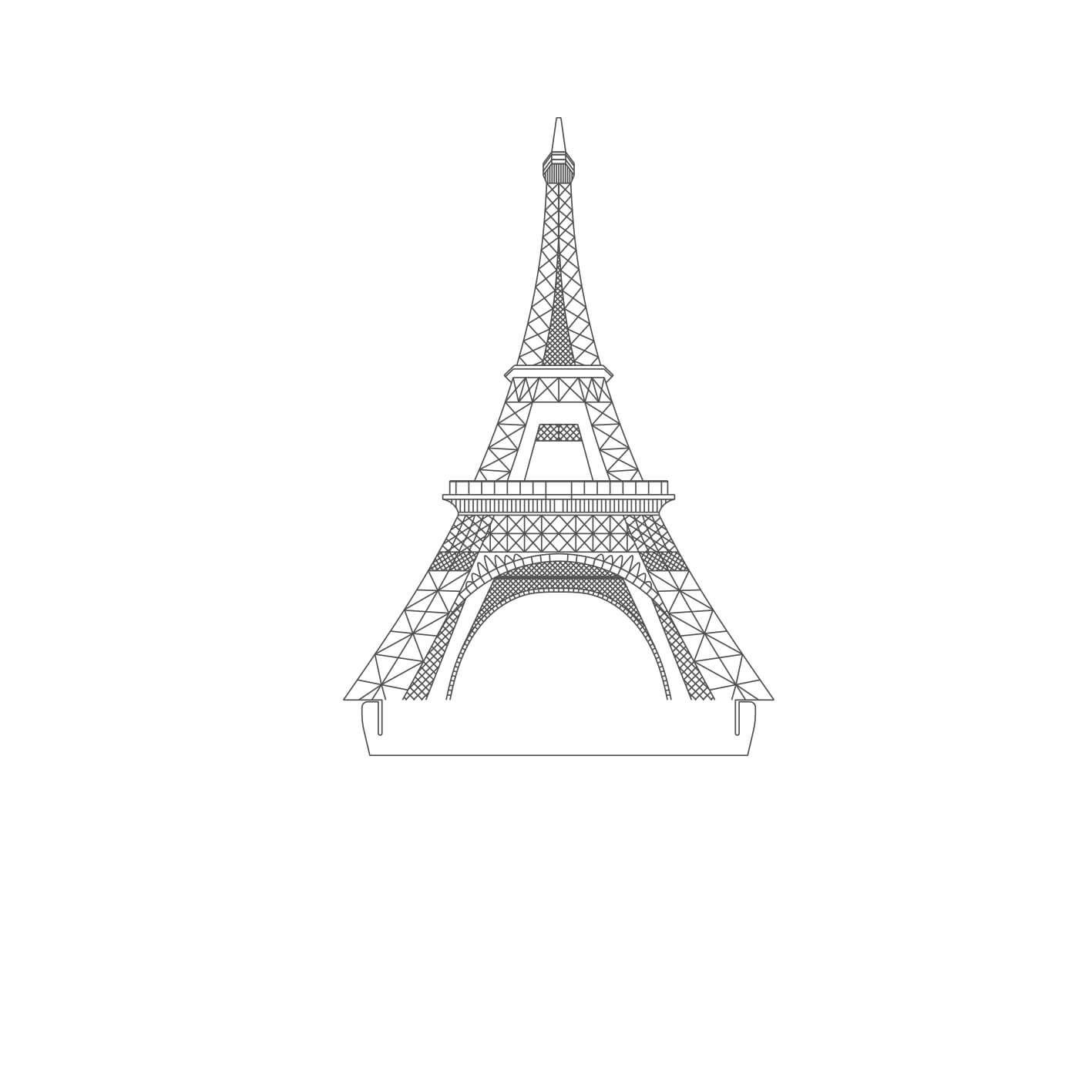 Europa - Acrílico Torre Eiffel - França