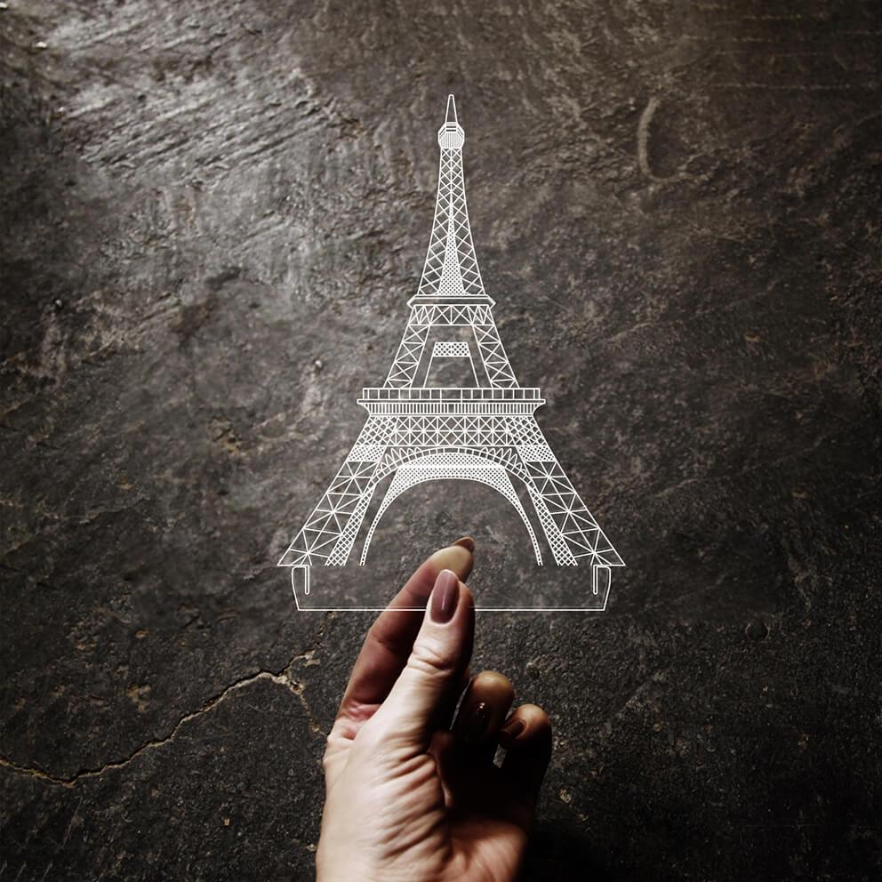Acrílico Torre Eiffel