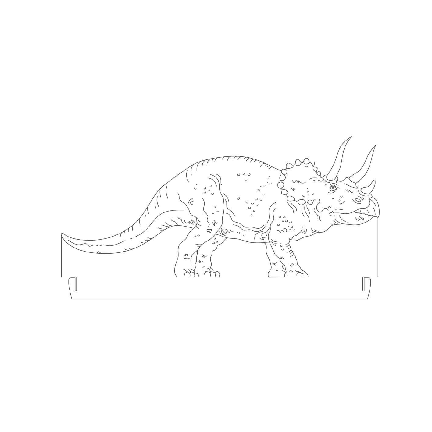 Dinossauro - Acrílico Triceratops