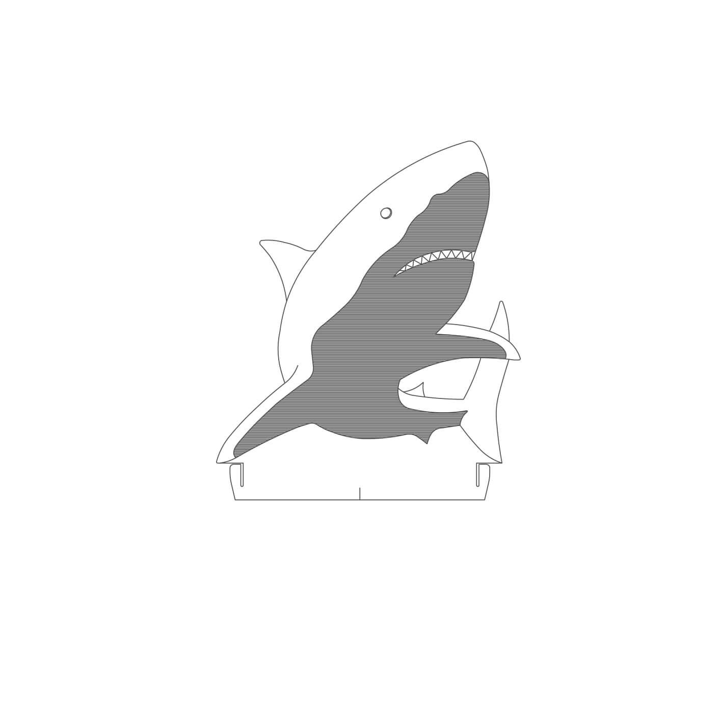 Acrílico Tubarão