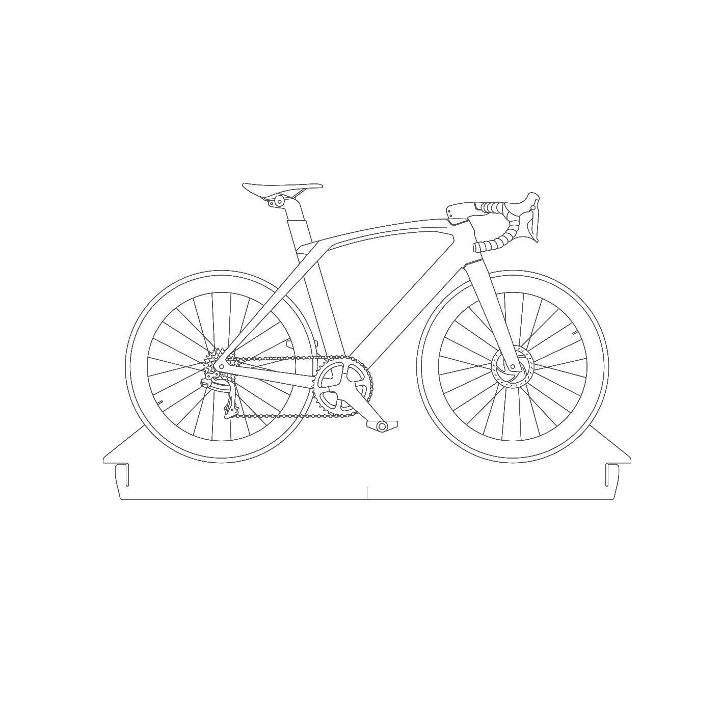 Bicicletas - Acrílico Bicicleta Speed