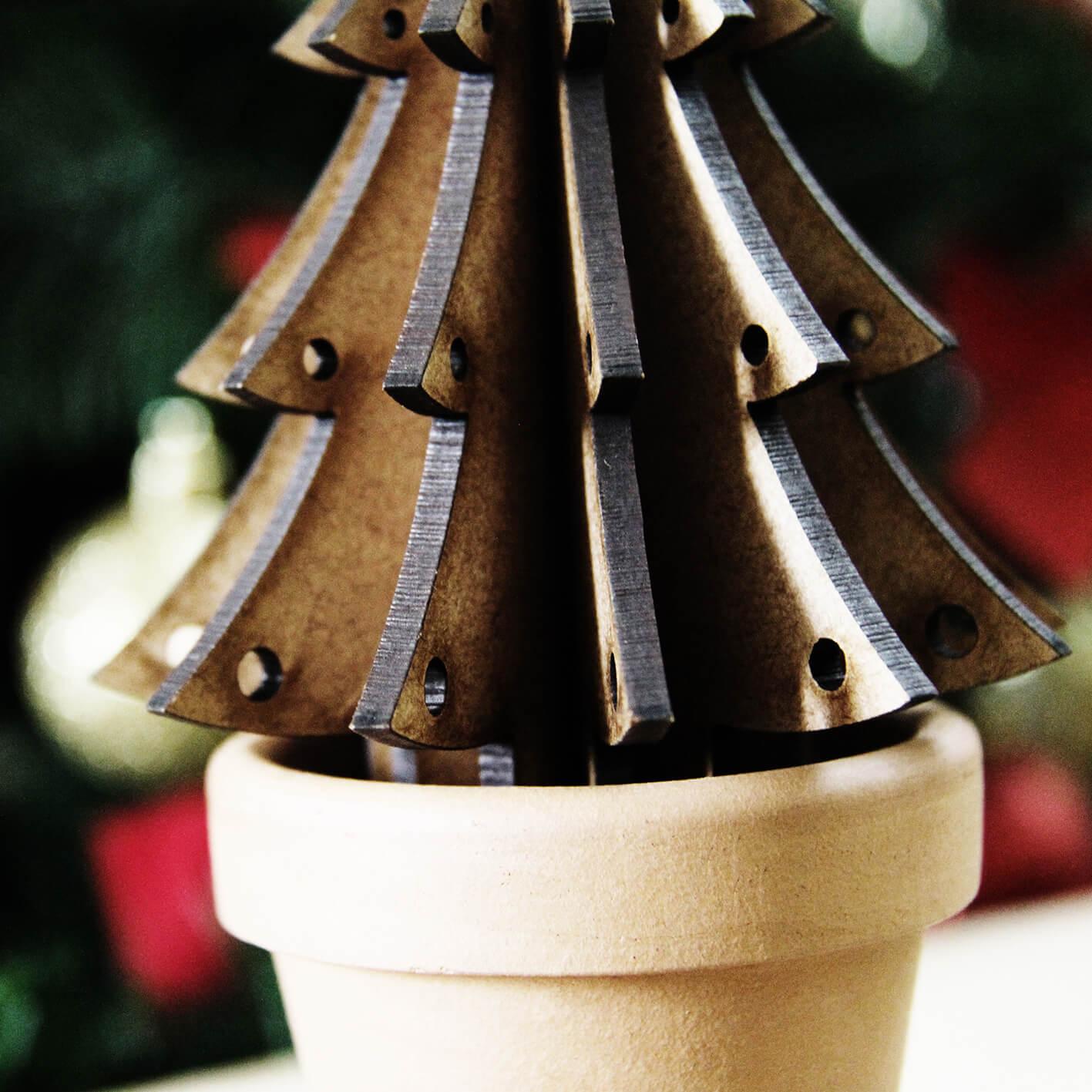 Planta para montar em MDF -  Árvore de Natal