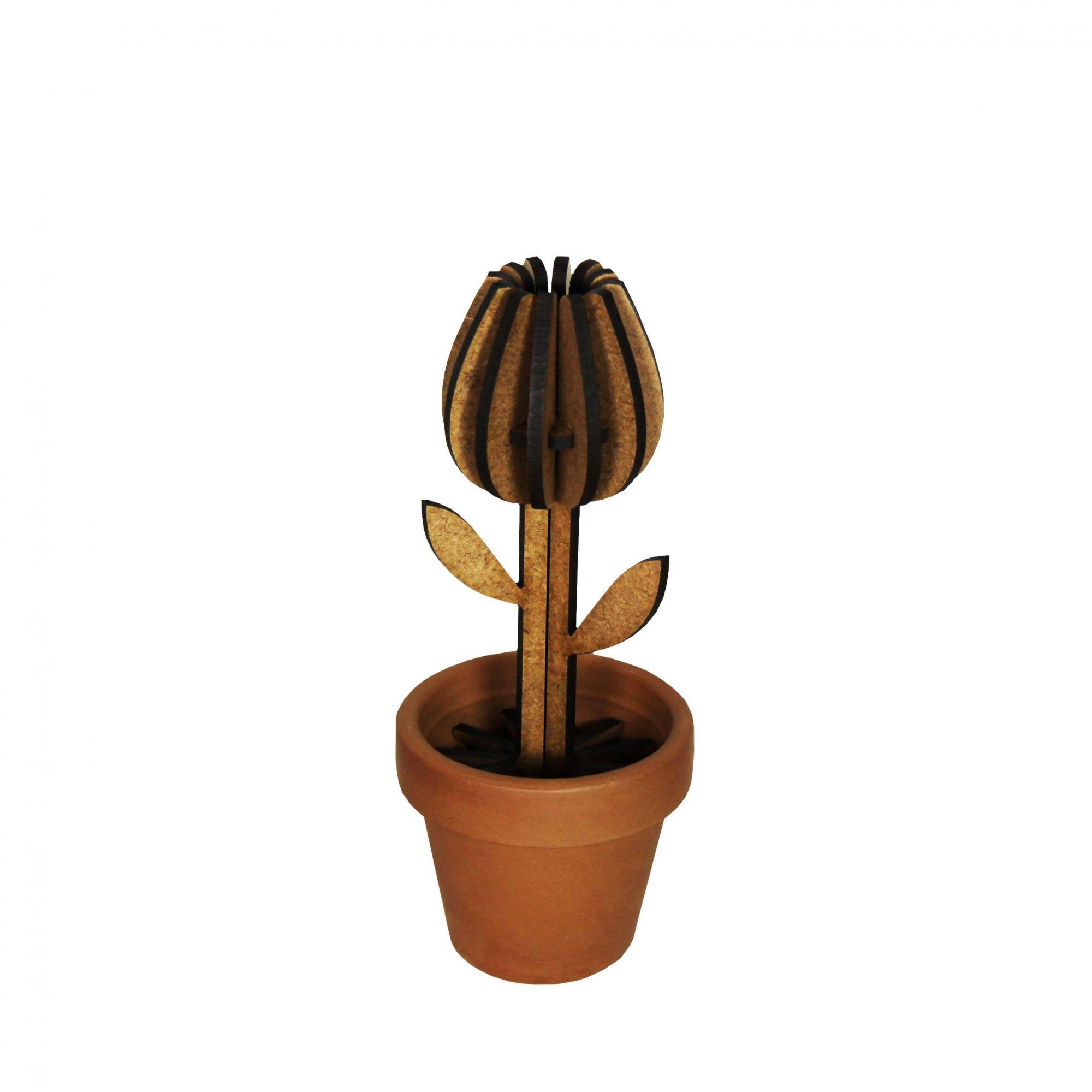 Planta para montar em MDF - Tulipa