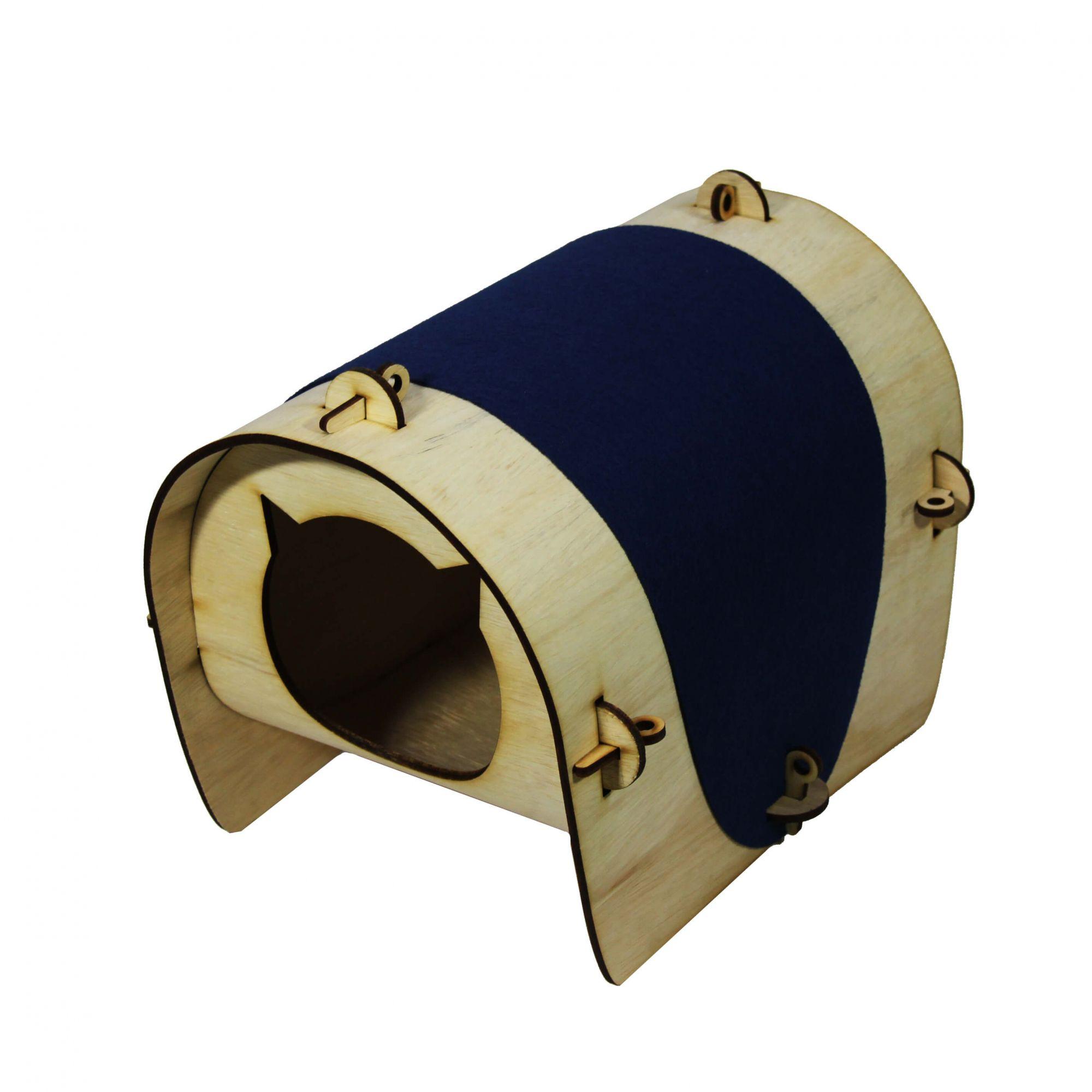 Casa de Gato para montar - Azul