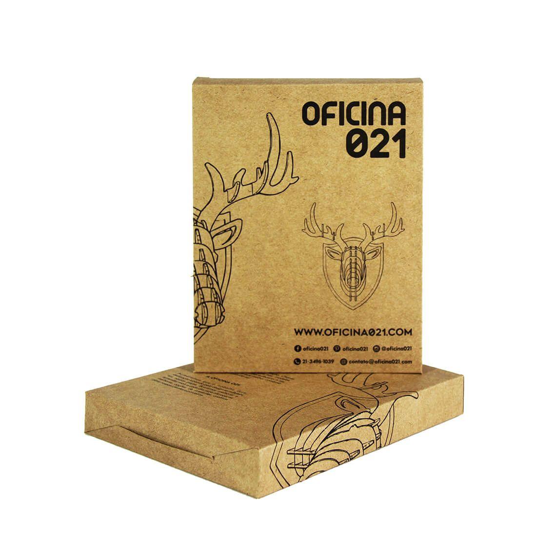 Cabeça para montar em acrilico cinza - Cervo