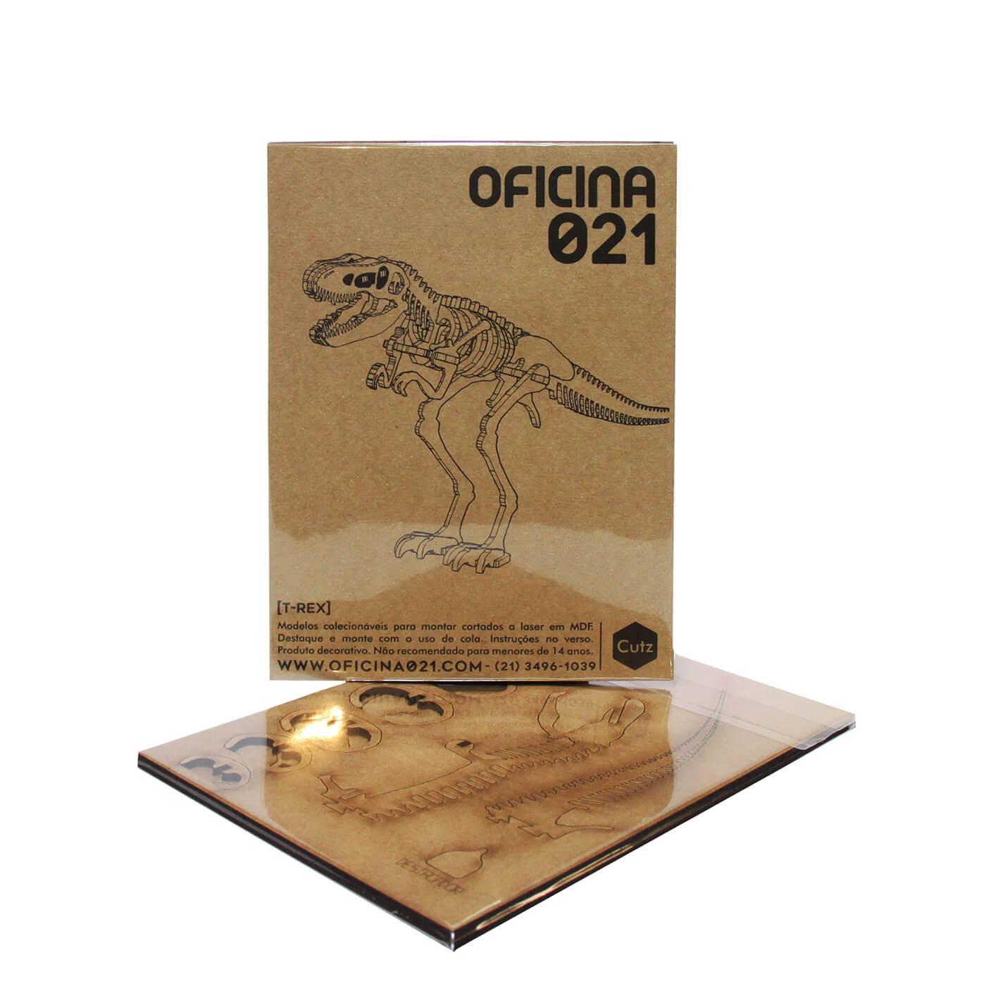 Dinossauro - Miniatura para montar Tiranossauro Rex