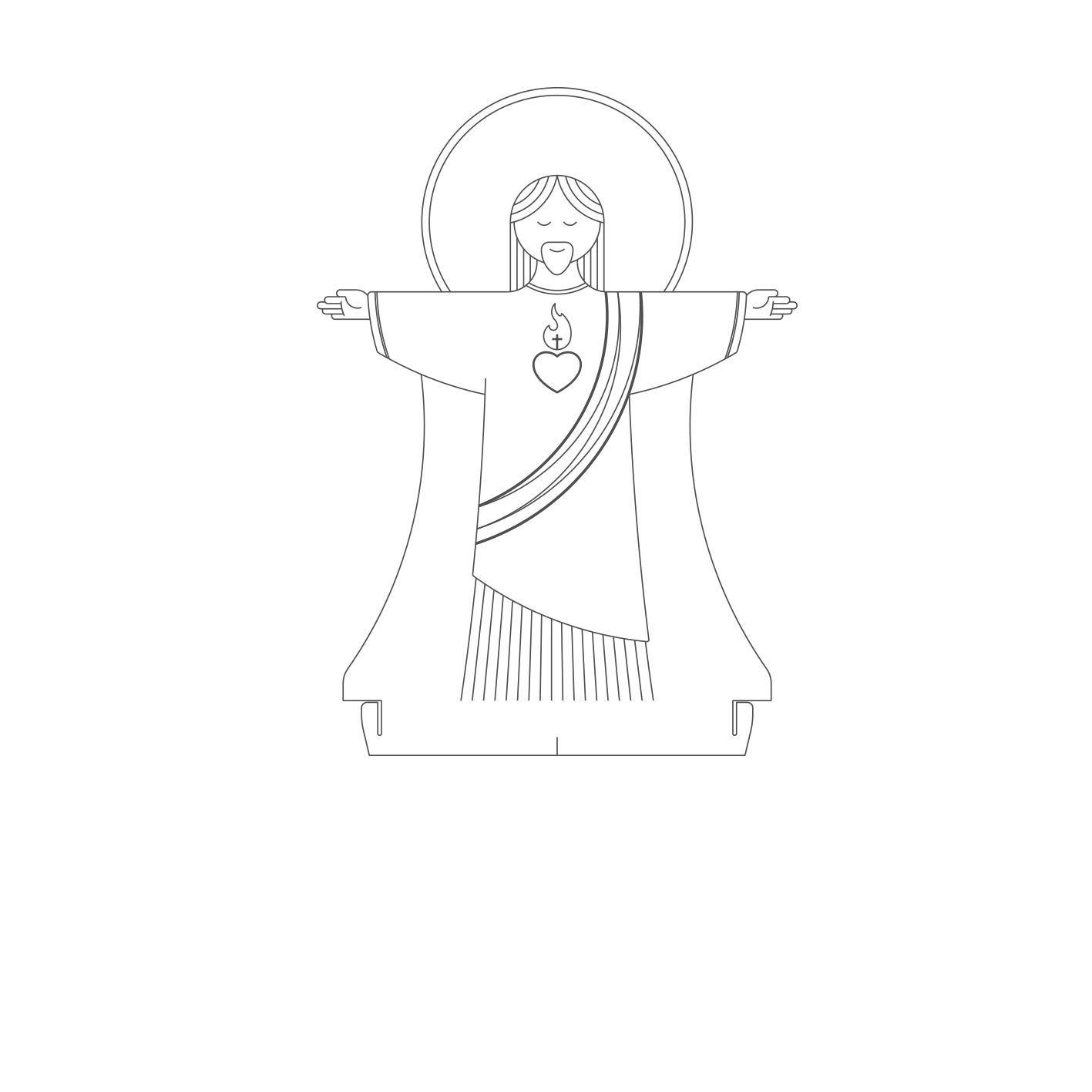 Fé - Acrilico Cristo