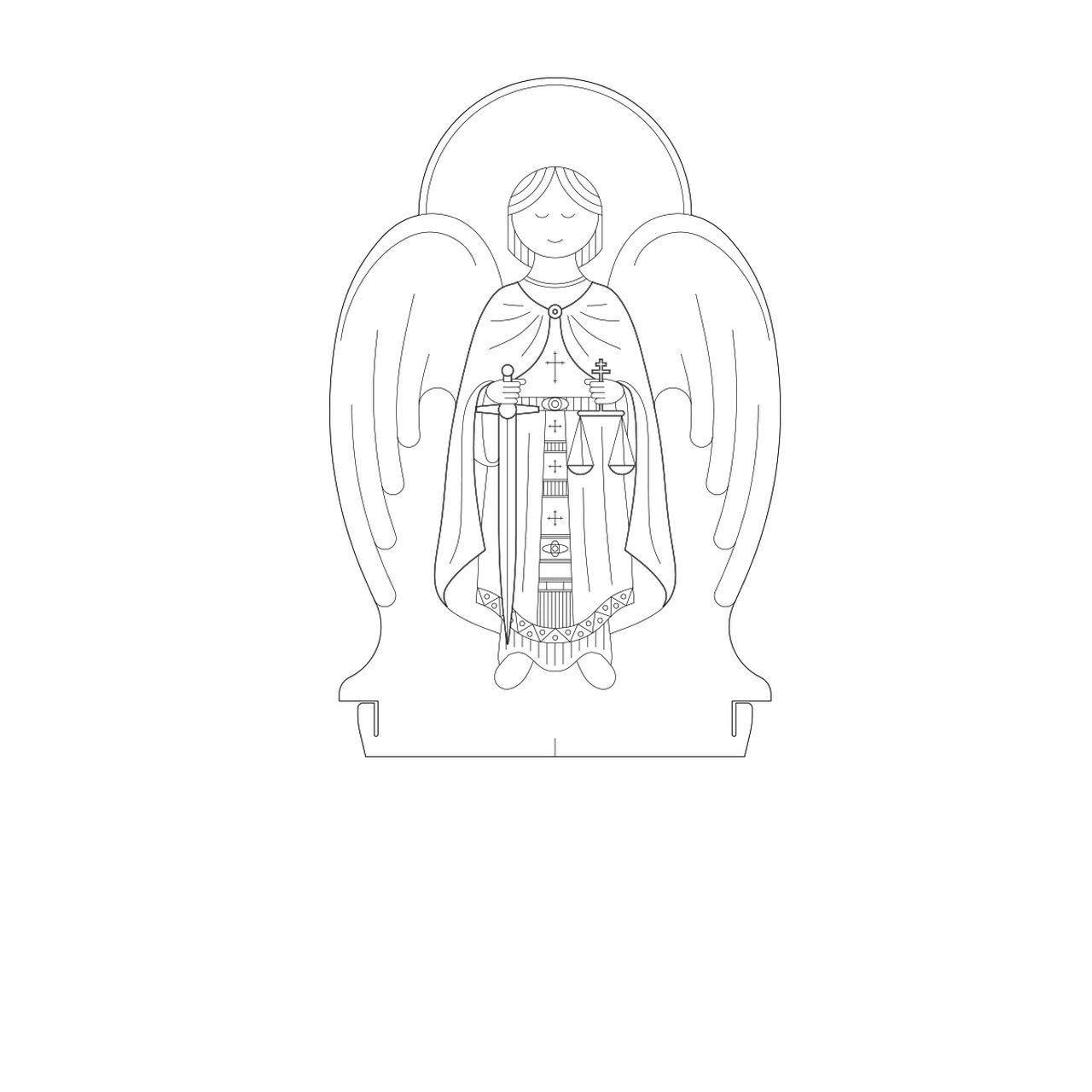Fé - Acrílico São Miguel Arcanjo