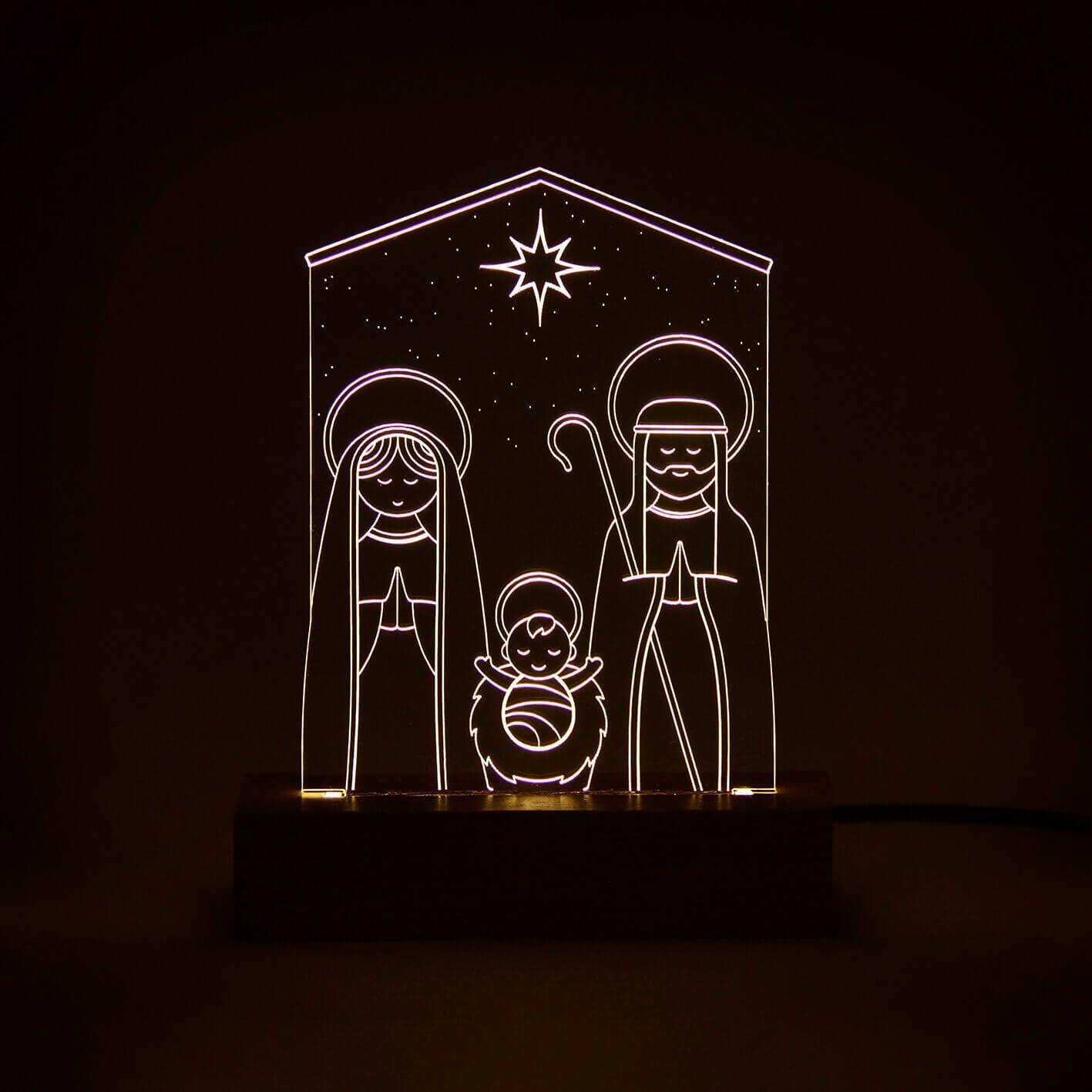 Fé - Luminária Presépio