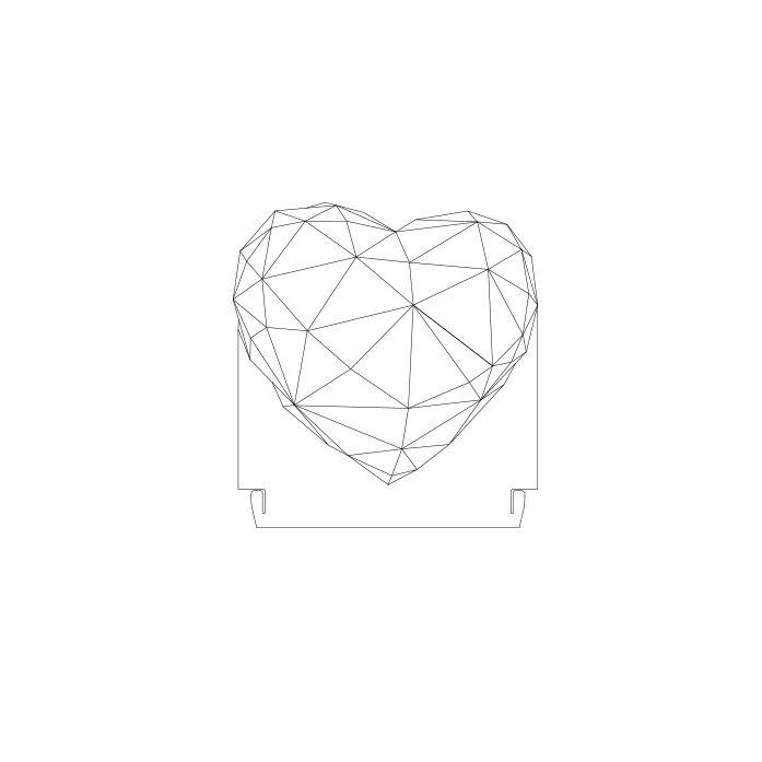 Forma - Acrílico Coração