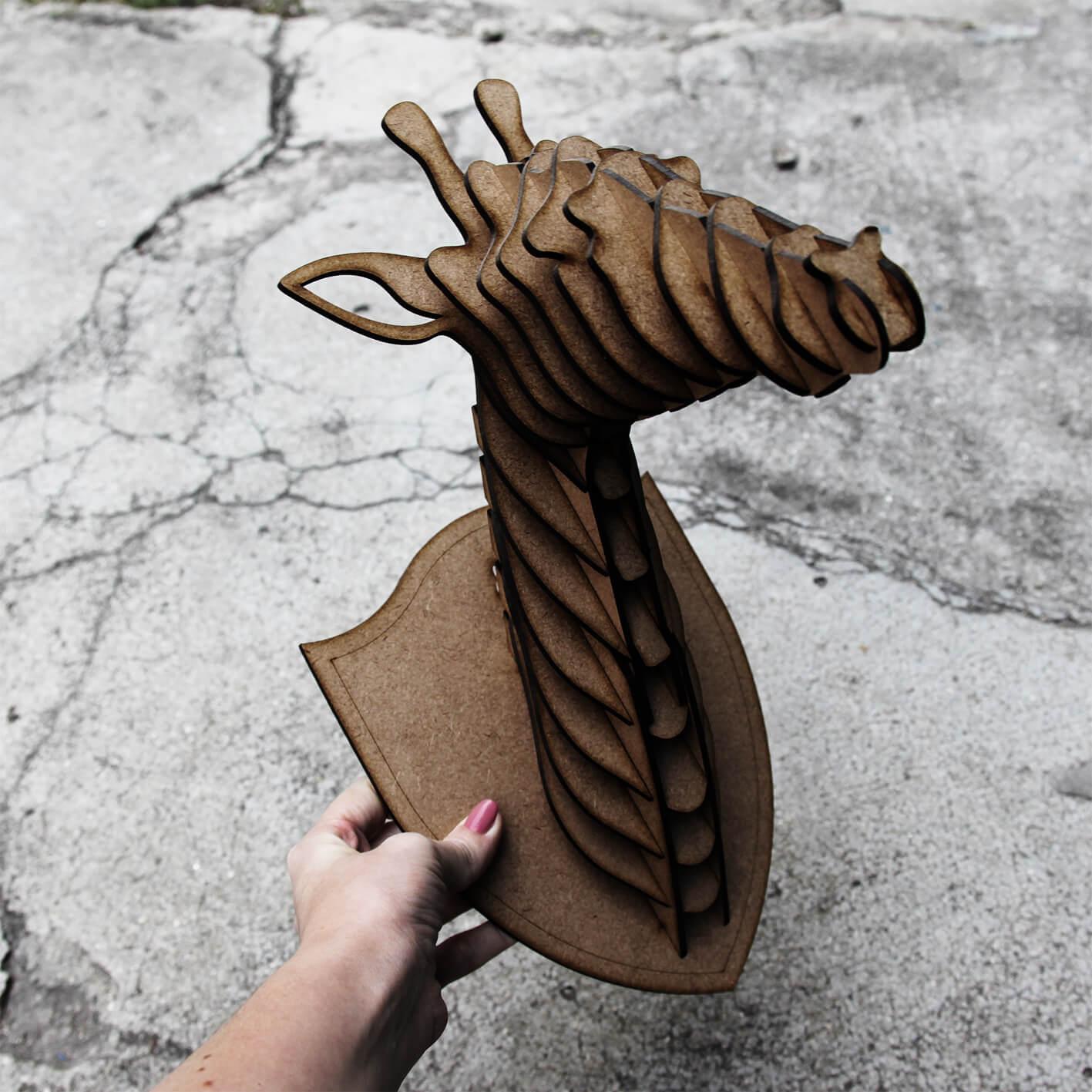 Cabeça para montar - Girafa MDF