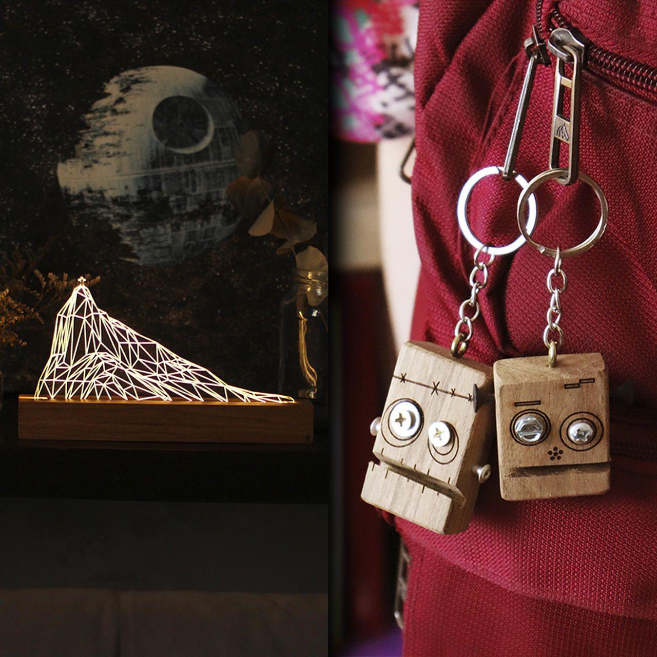 Kit Dia dos Namorados - 1 luminária Corcovado + 2 chaveiros