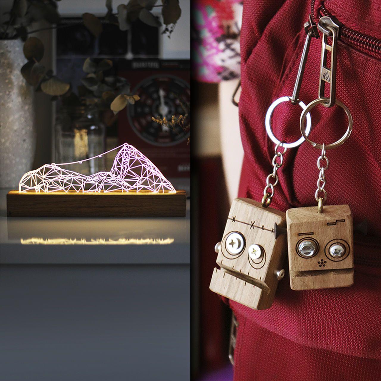 Kit Dia dos Namorados - 1 luminária Pão de Açúcar + 2 chaveiros