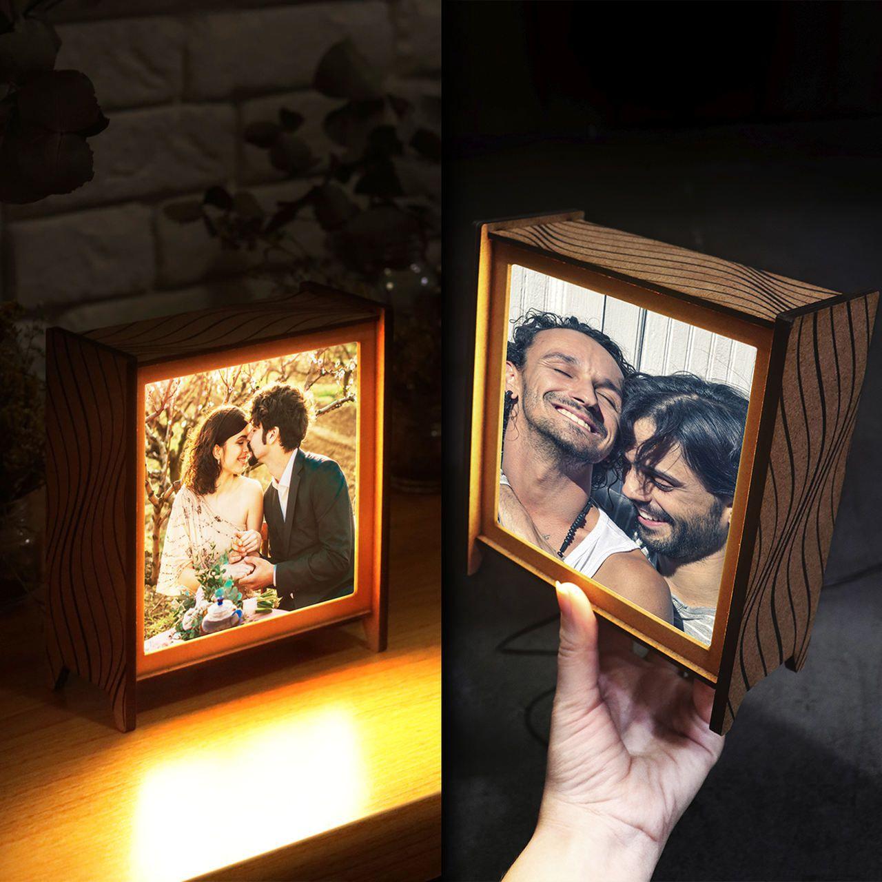 Kit Dia dos Namorados em dobro - 2 luminárias personalizadas