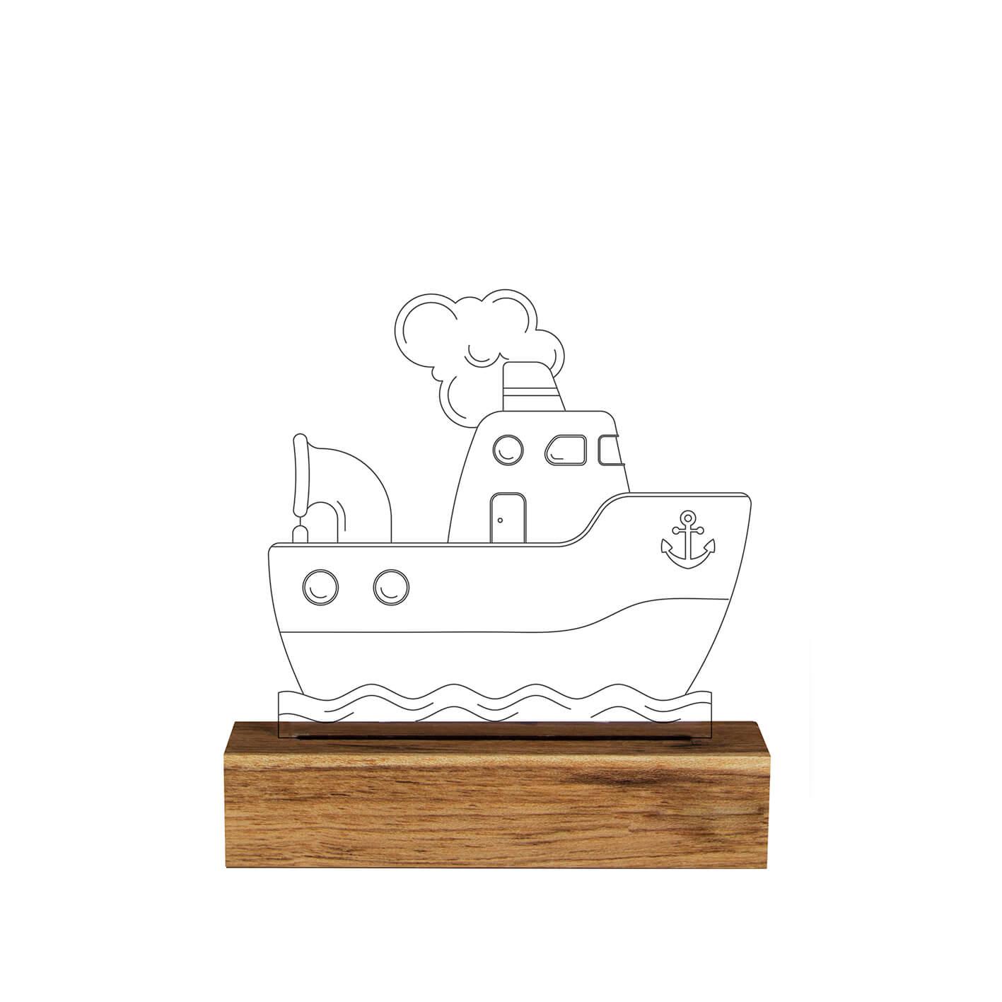 Infantil - Luminária Barco