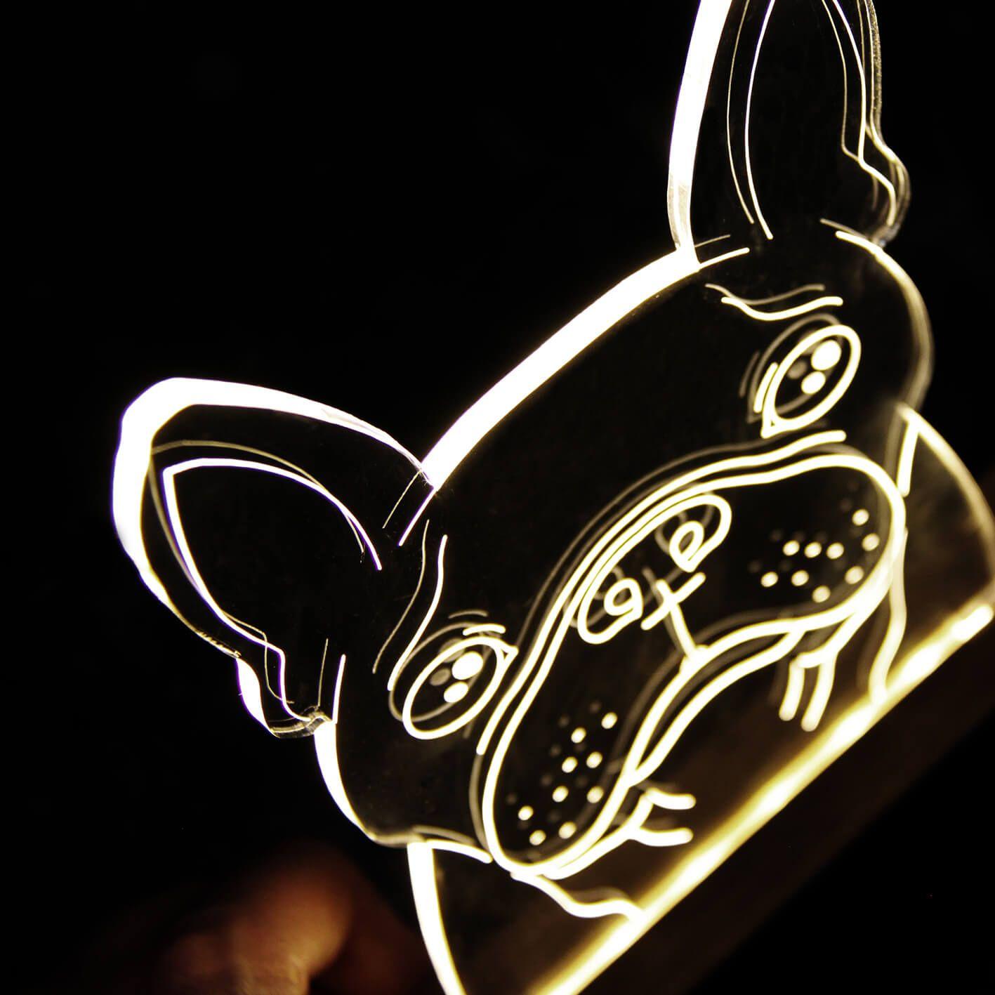 Pet - Luminária Buldogue Francês