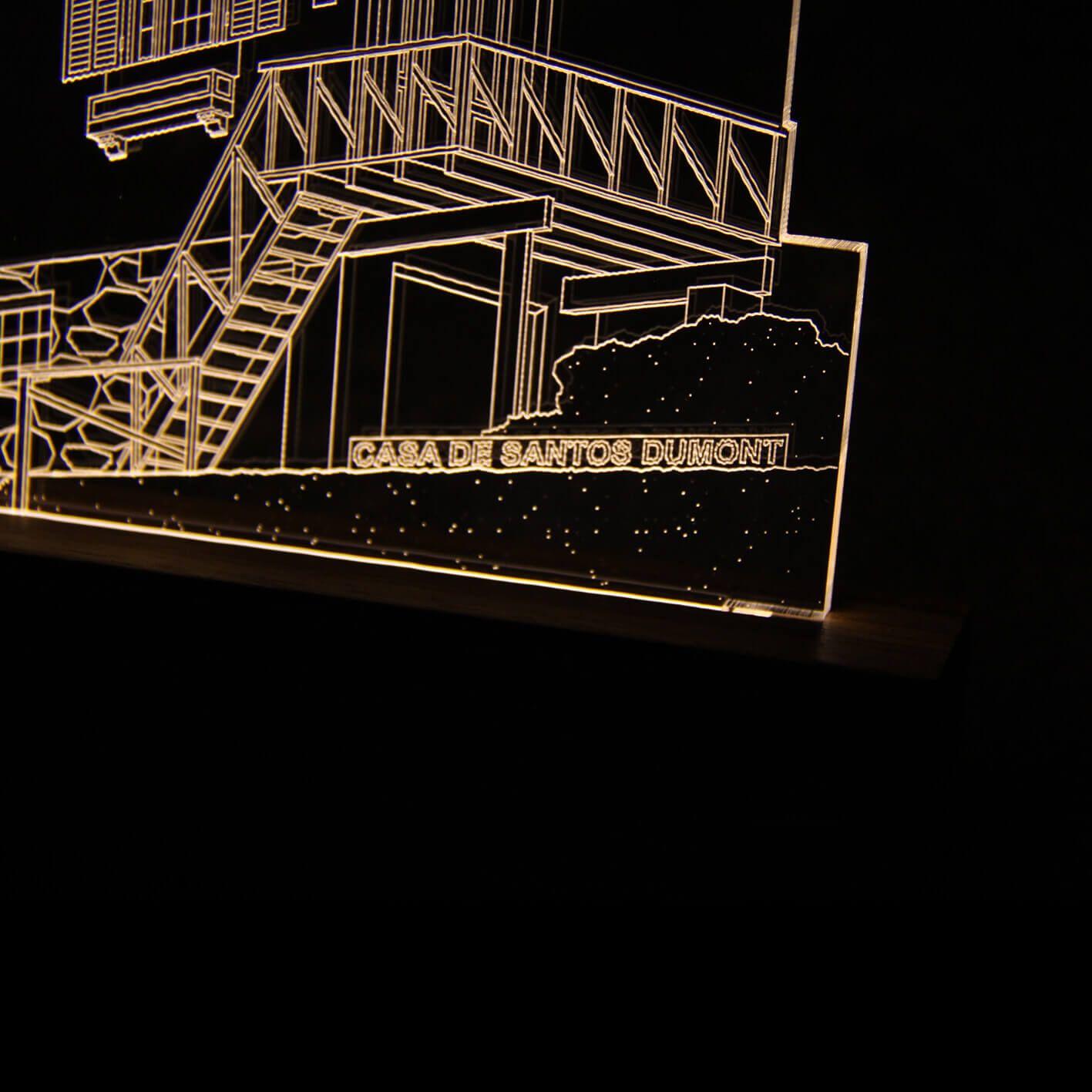 Luminária Casa Santos Dumont - Petrópolis