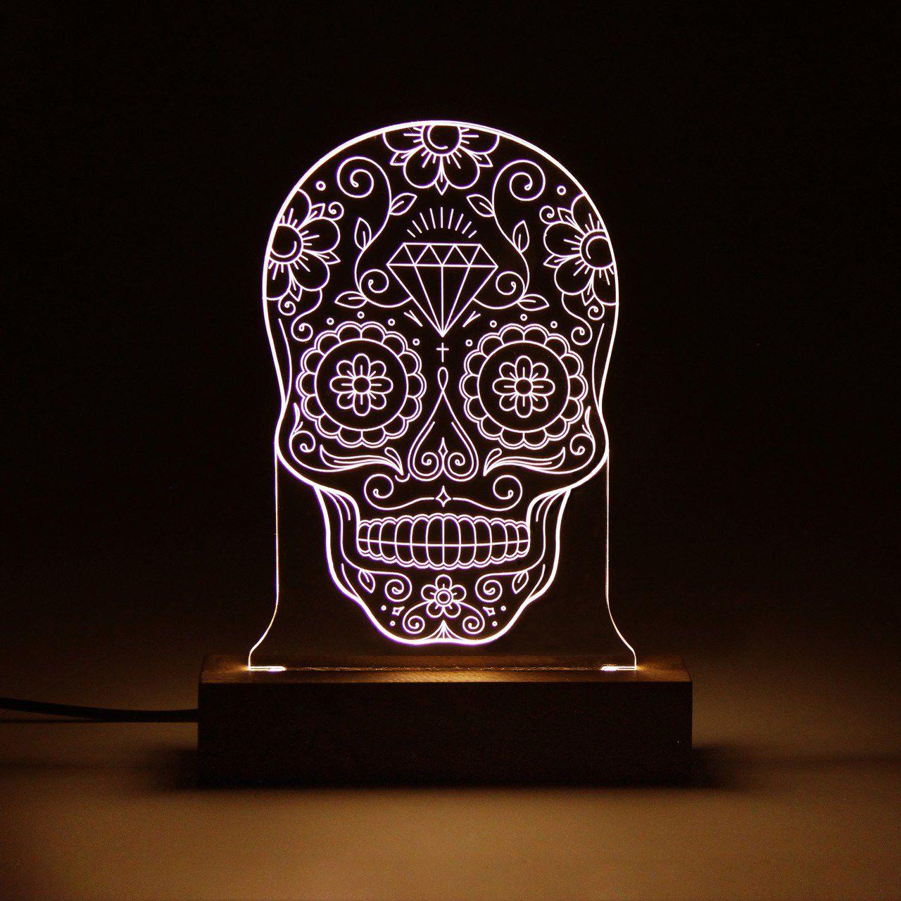 Luminária Caveira Mexicana
