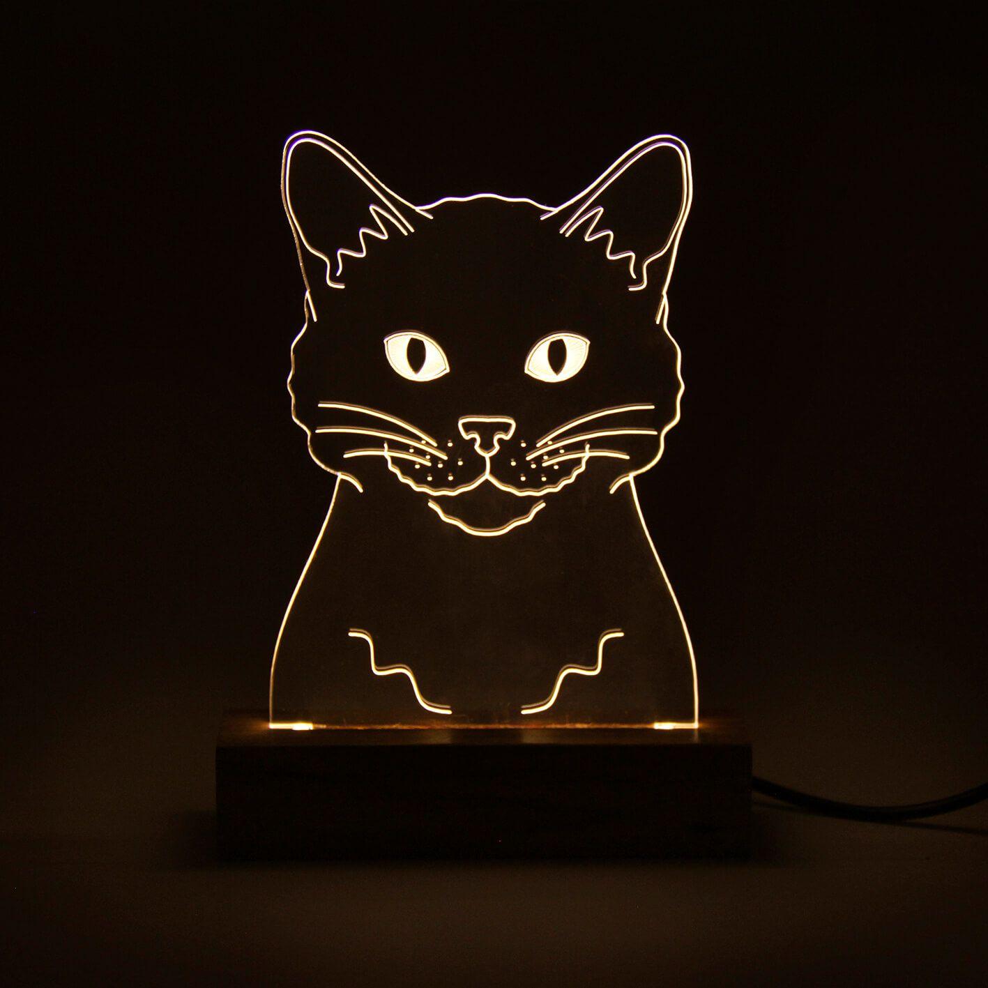 Pet - Luminária Gato