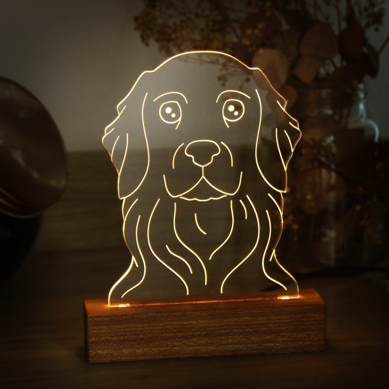 Luminária Golden Retriever