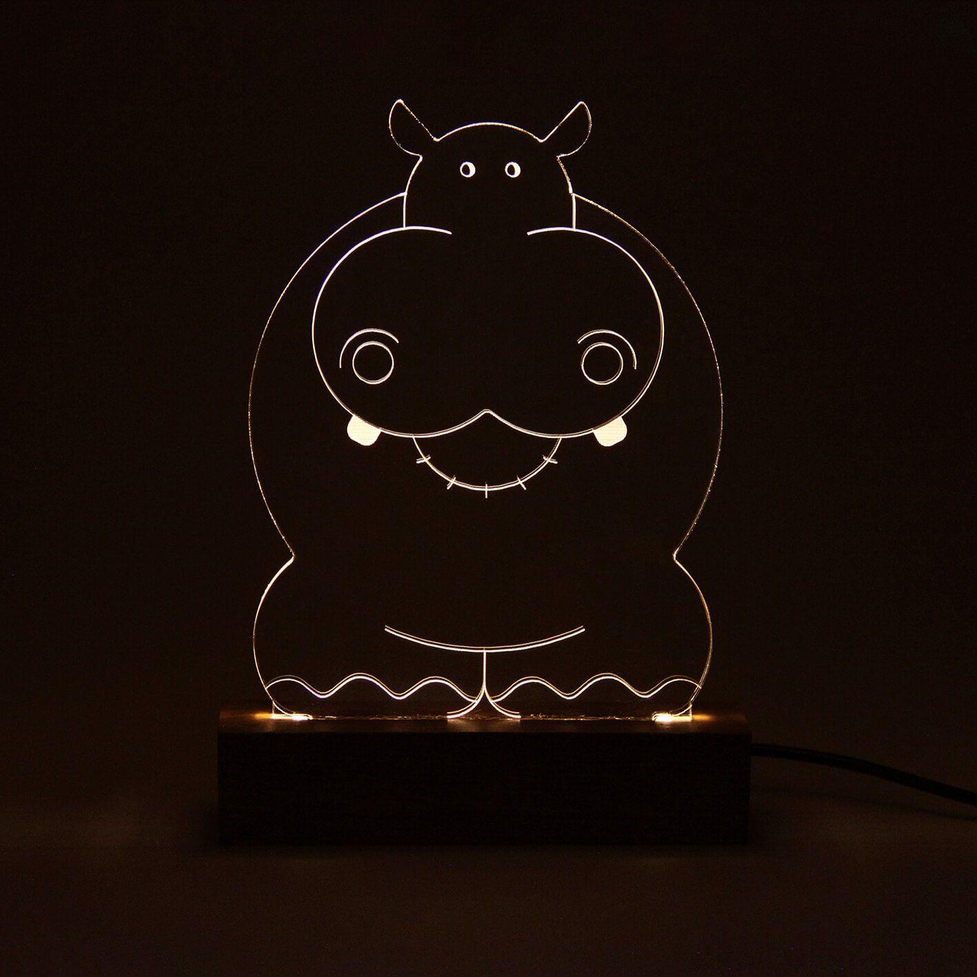 Infantil - Luminária Hipopótamo