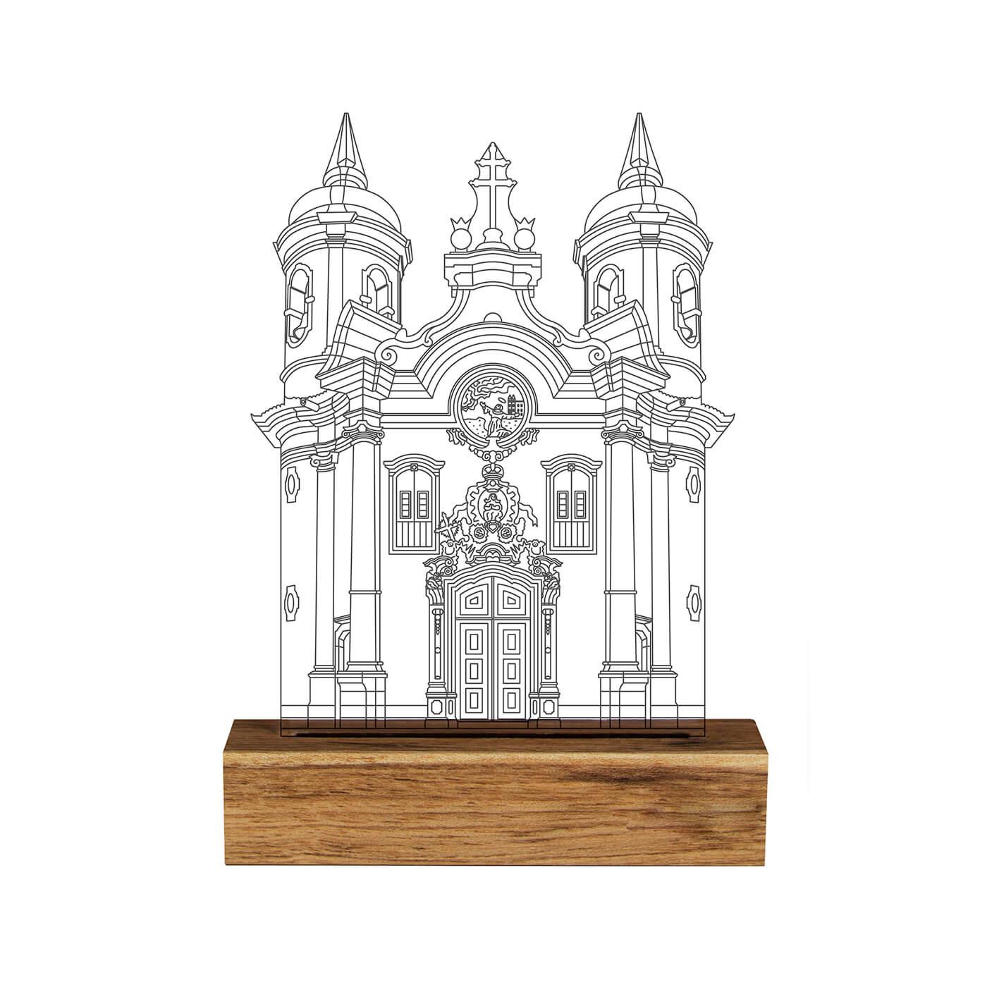 Luminária Igreja São Francisco de Assis - Ouro Preto
