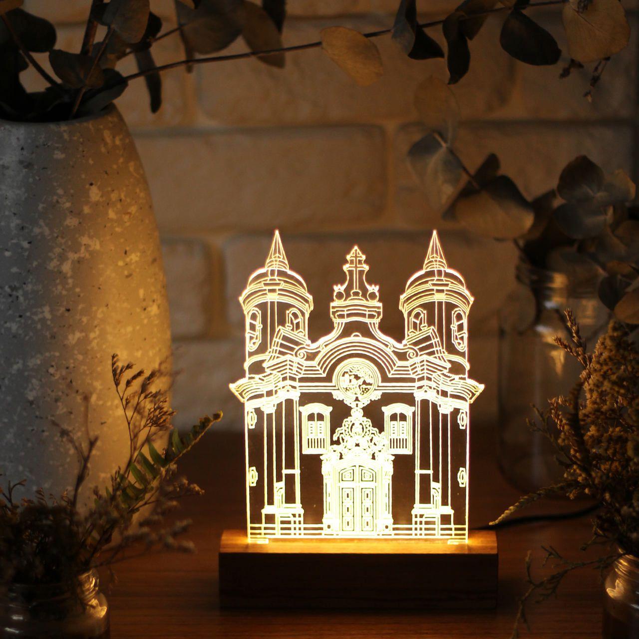Luminária Igreja São Francisco de Assis - Ouro Preto - MG