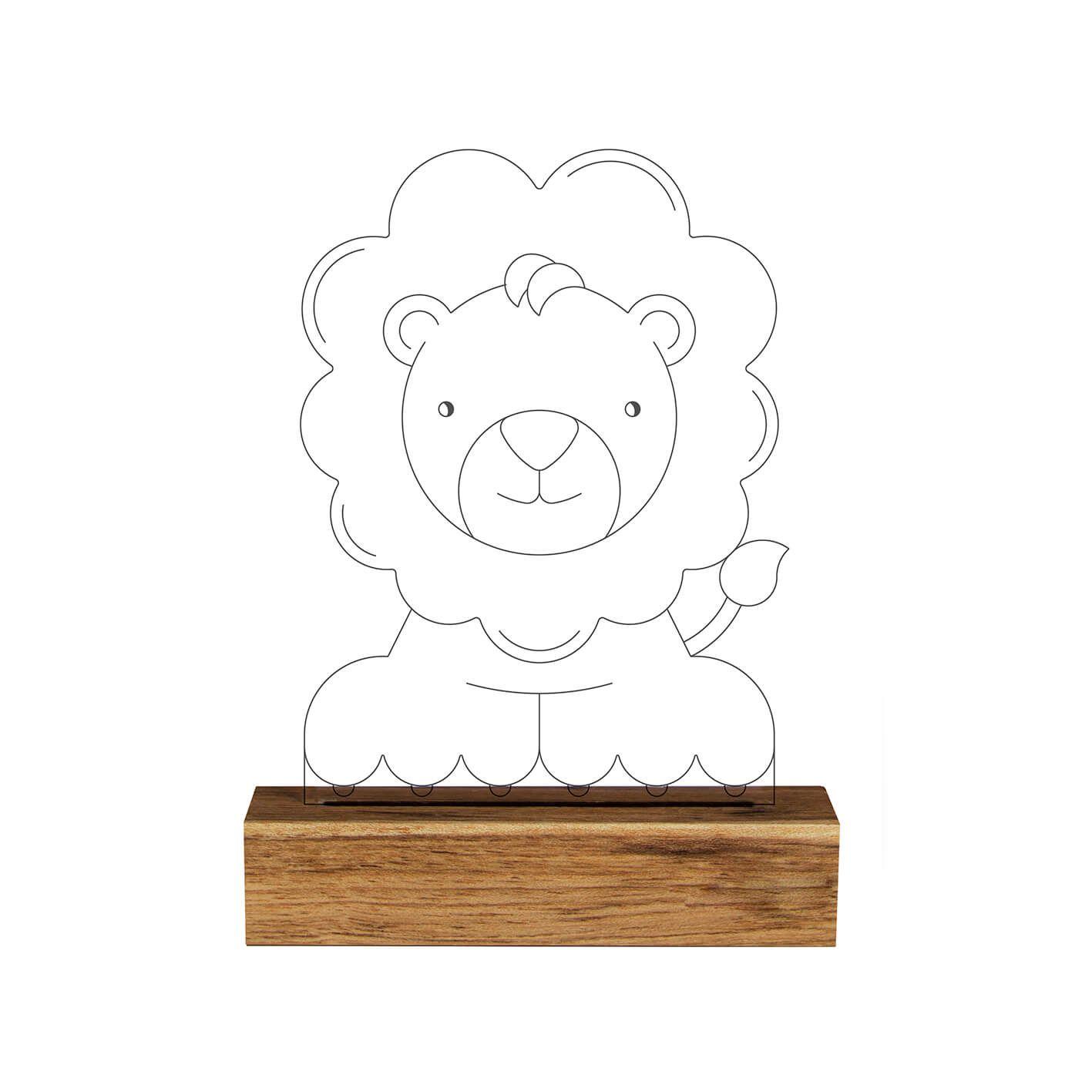 Infantil - Luminária Leão