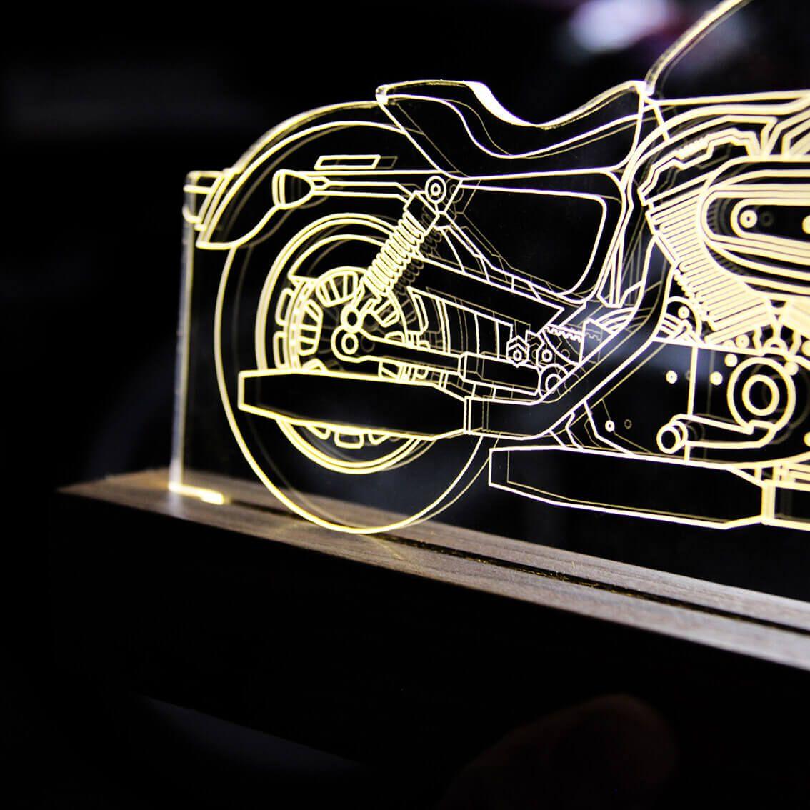 Auto - Luminária Motocicleta