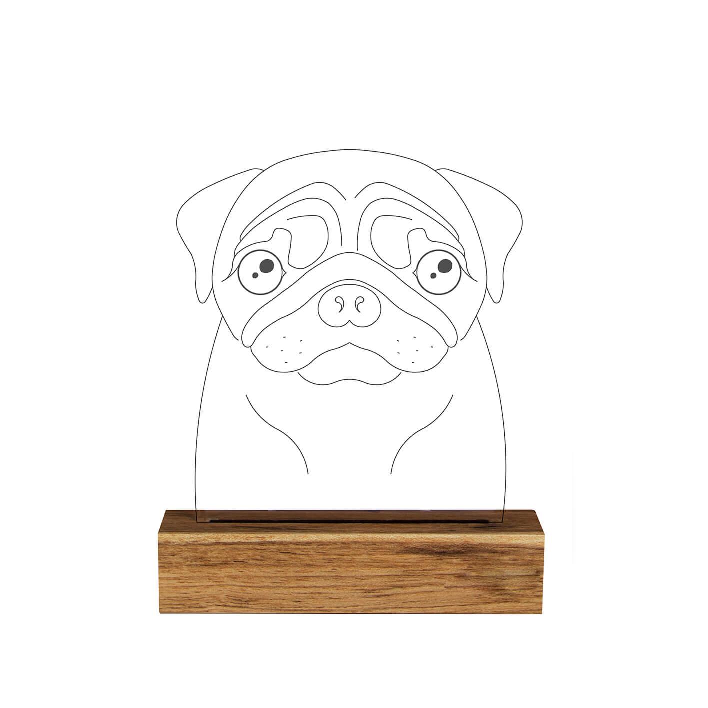 Pet - Luminária Pug