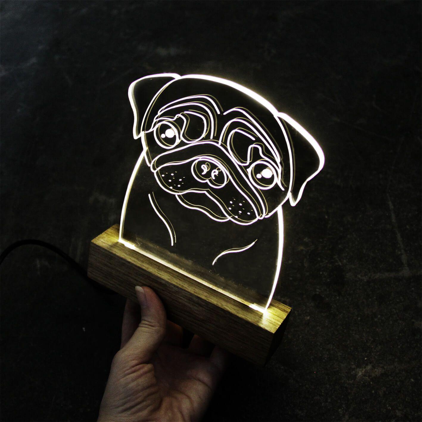 Luminária Pug