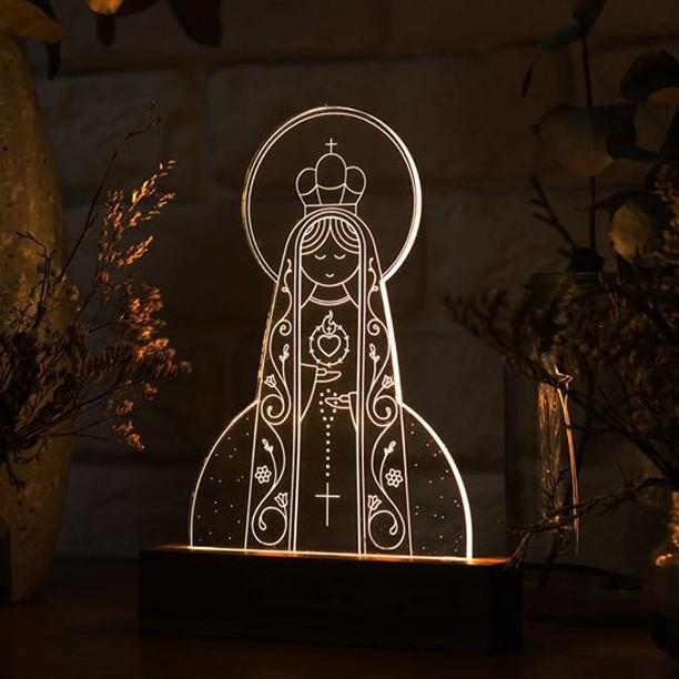 Luminária Sagrado Coração de Maria
