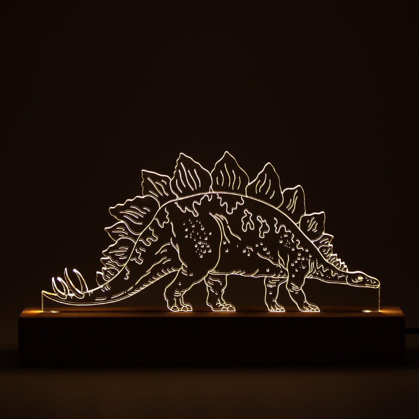 Dinossauro - Luminária Stegosaurus