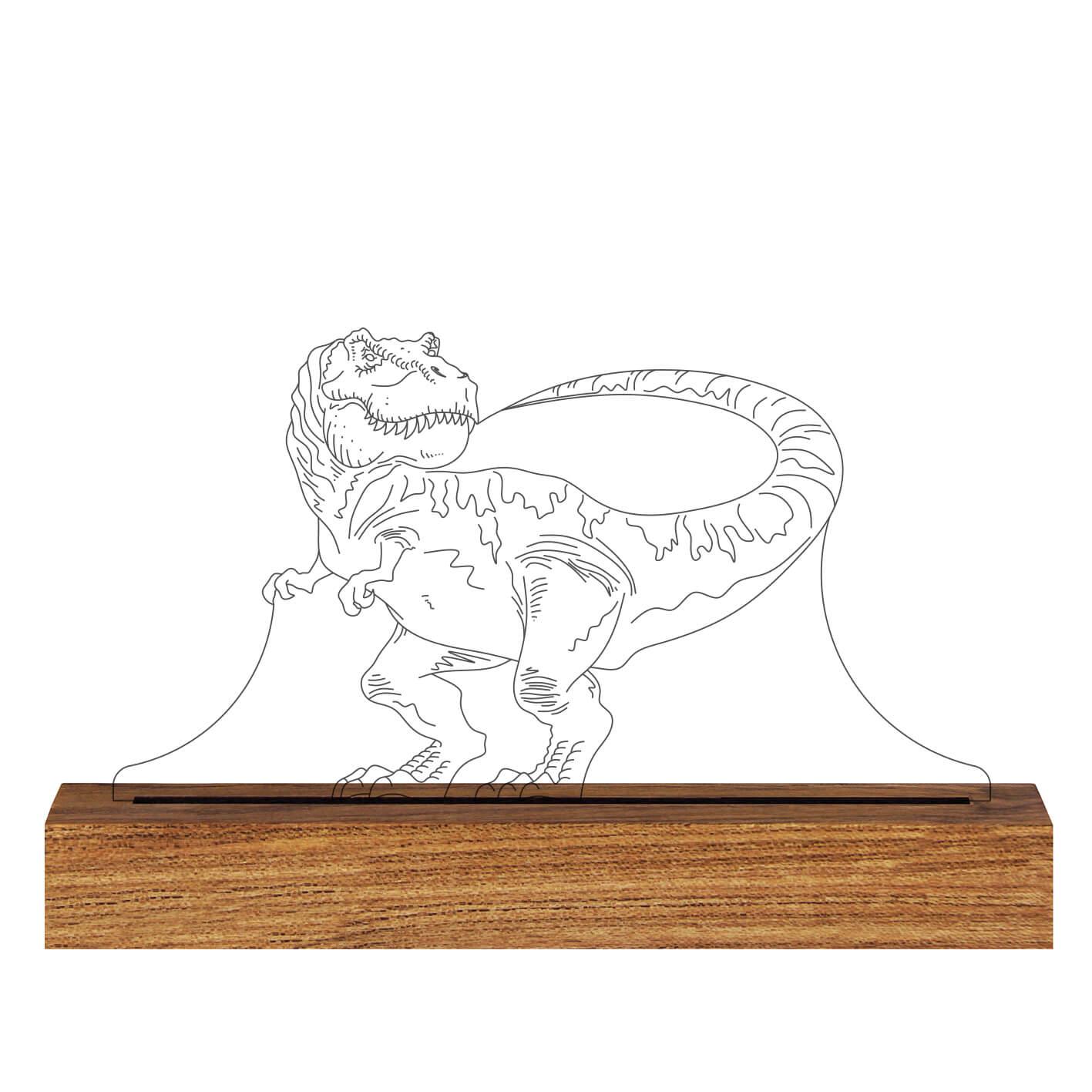Dinossauro - Luminária Tiranossauro