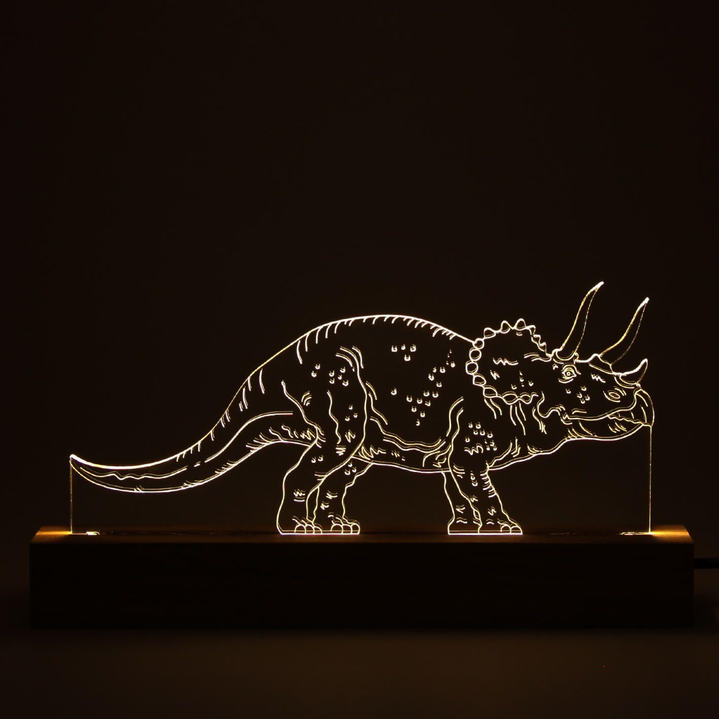 Dinossauro - Luminária Triceratops
