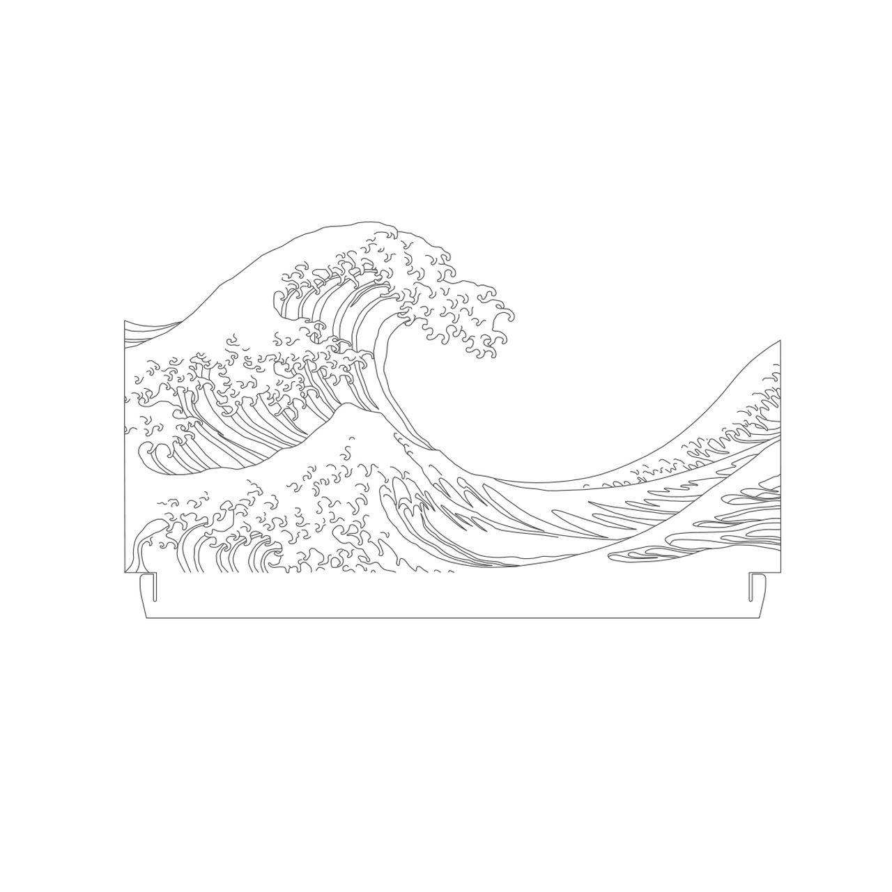 Marinhos - Acrílico Tsunami