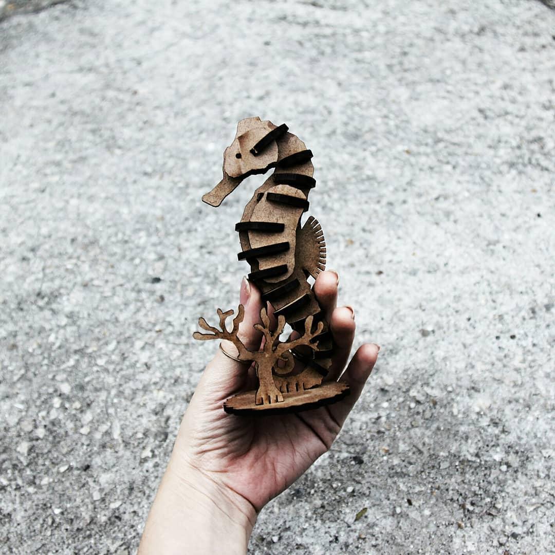 Marinhos - Miniatura para montar Cavalo Marinho
