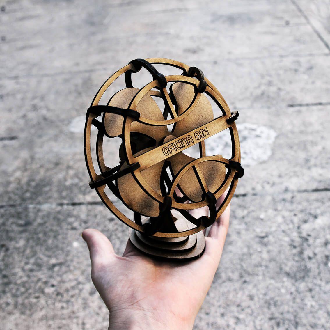 Retrô - Miniatura para montar Ventilador
