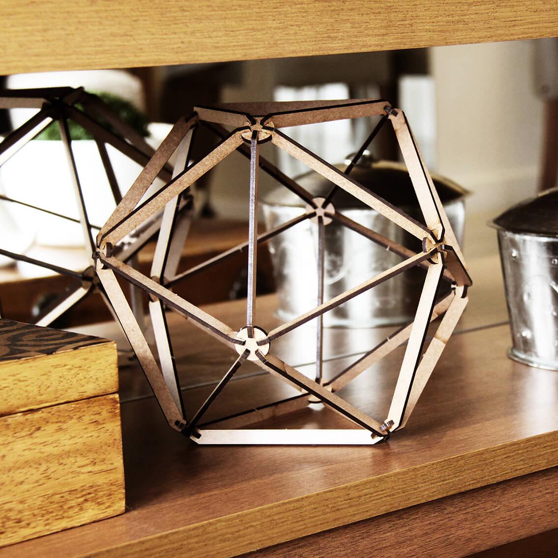 Geométricos - Miniatura para montar Icosaedro