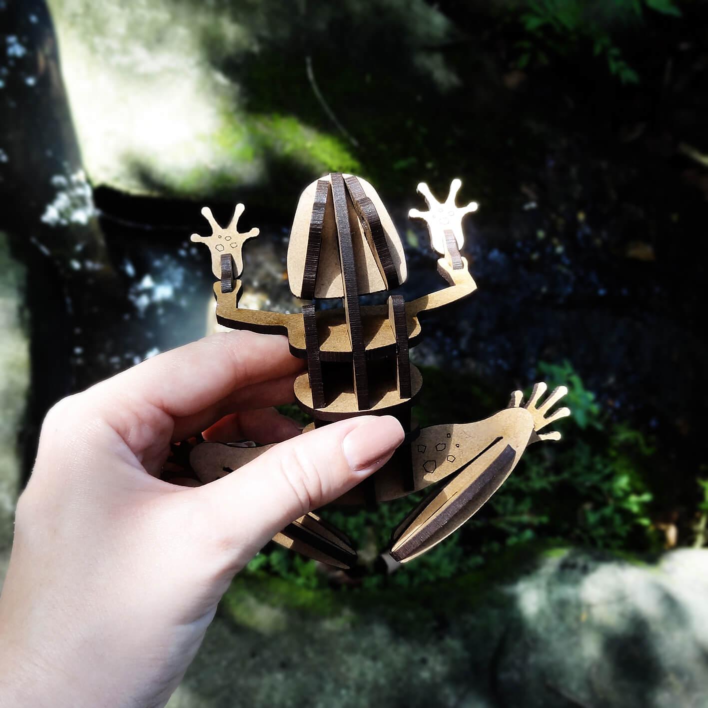 Natureza - Miniatura para montar Sapo