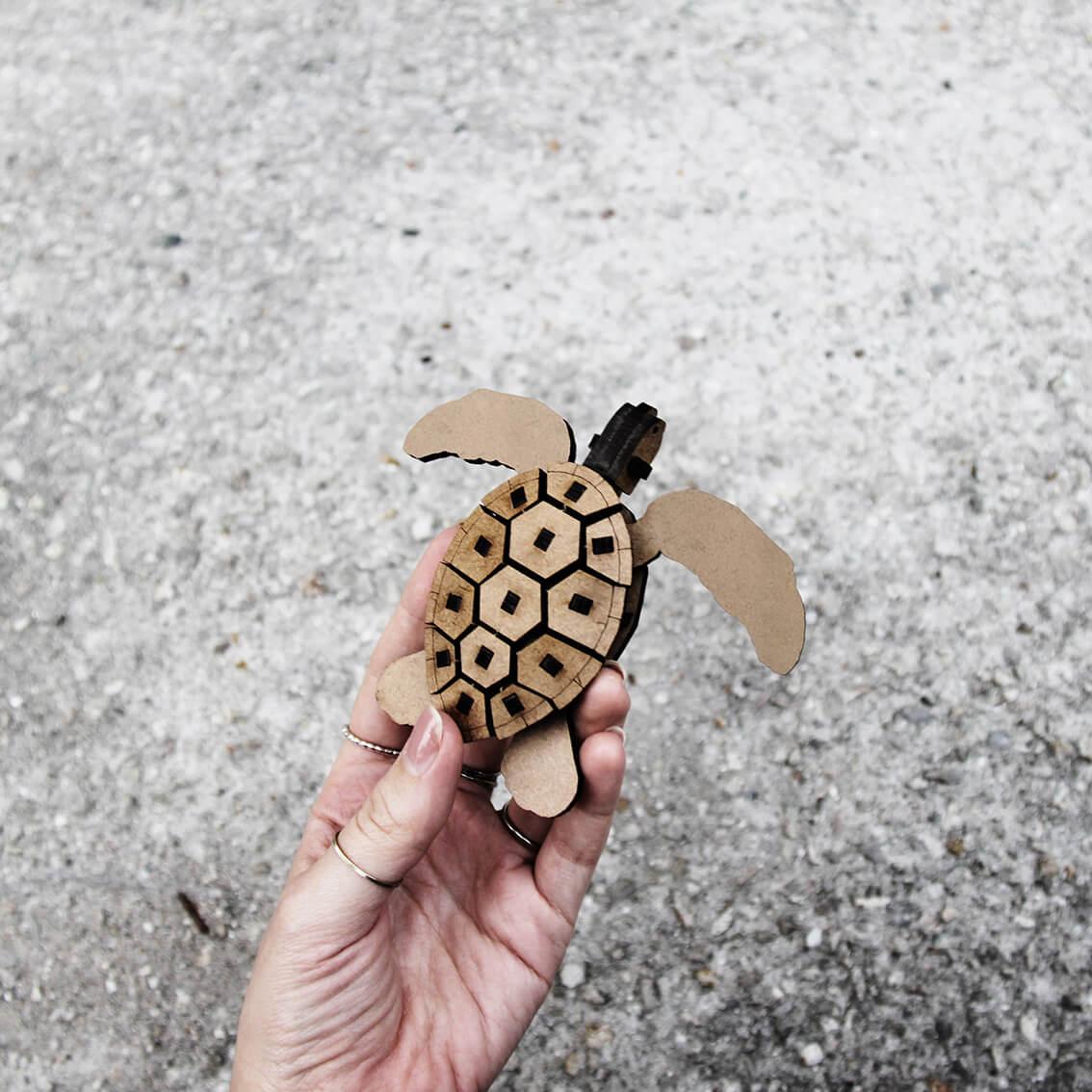 Miniatura para montar Tartaruga (Cutz)